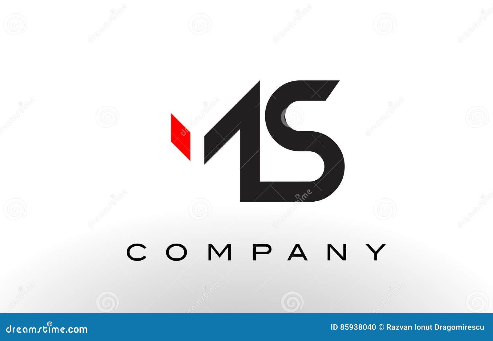 ms logo letter design vector stock vector image 85938040