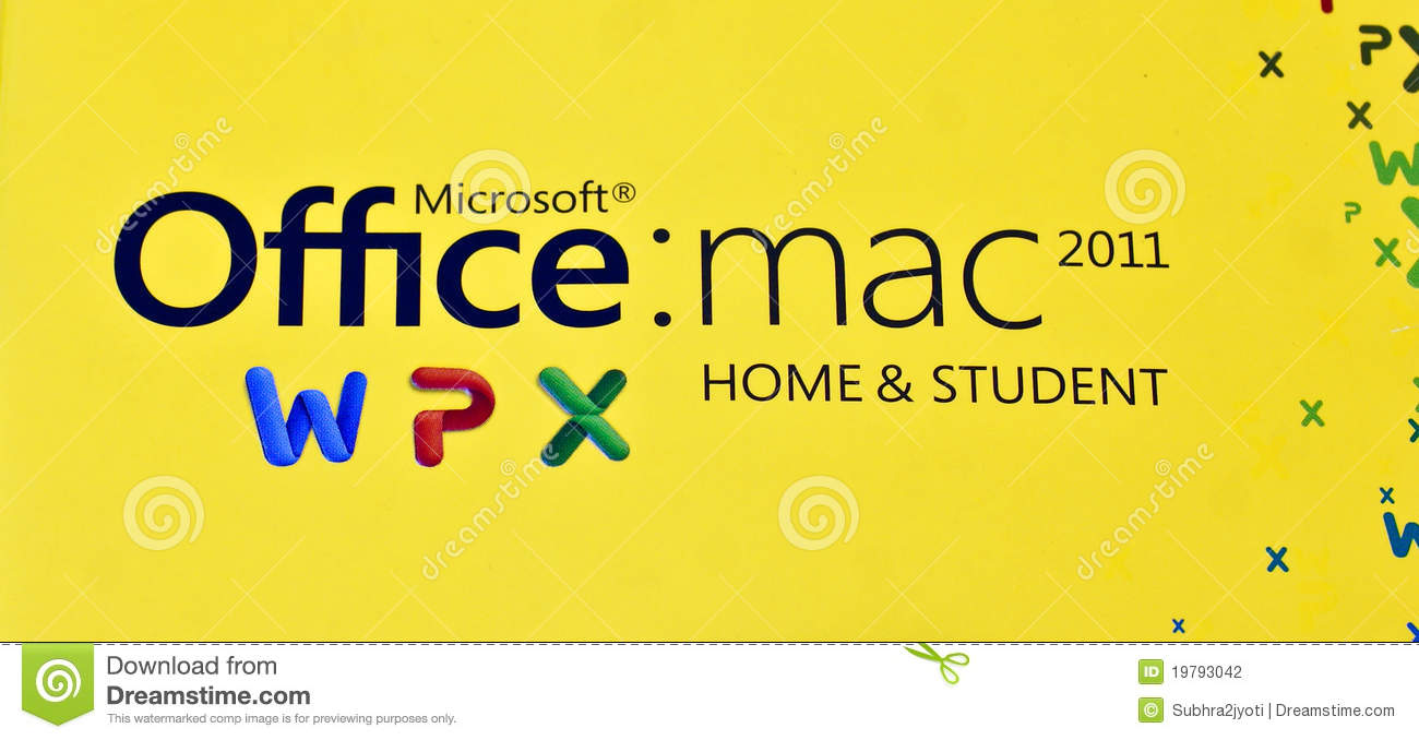 MS Logo Of Office Mac 2011 Home & Student Edition Editorial
