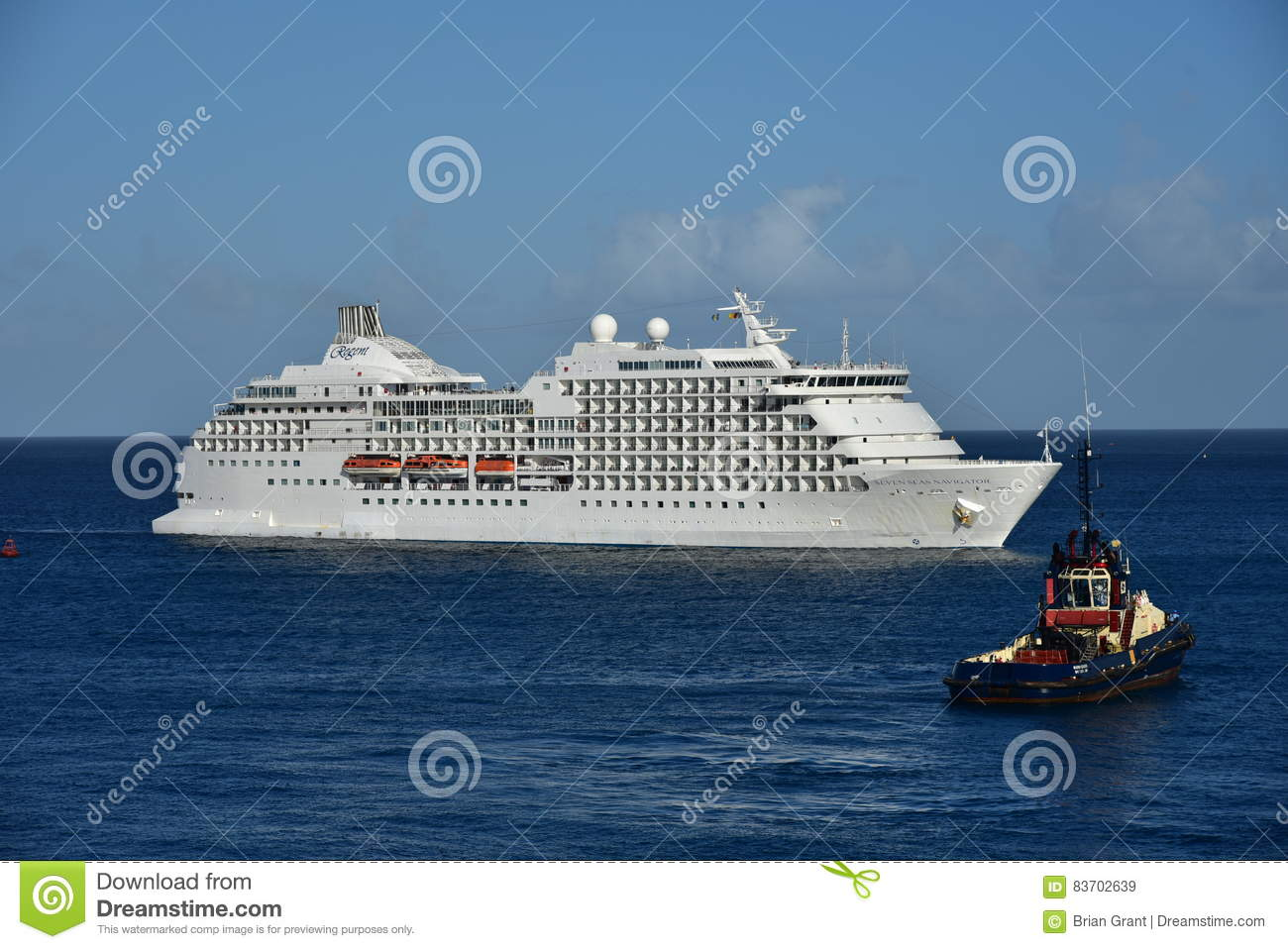 MSC Poesia Arriving Barbados Observed By Tug Editorial Stock Image
