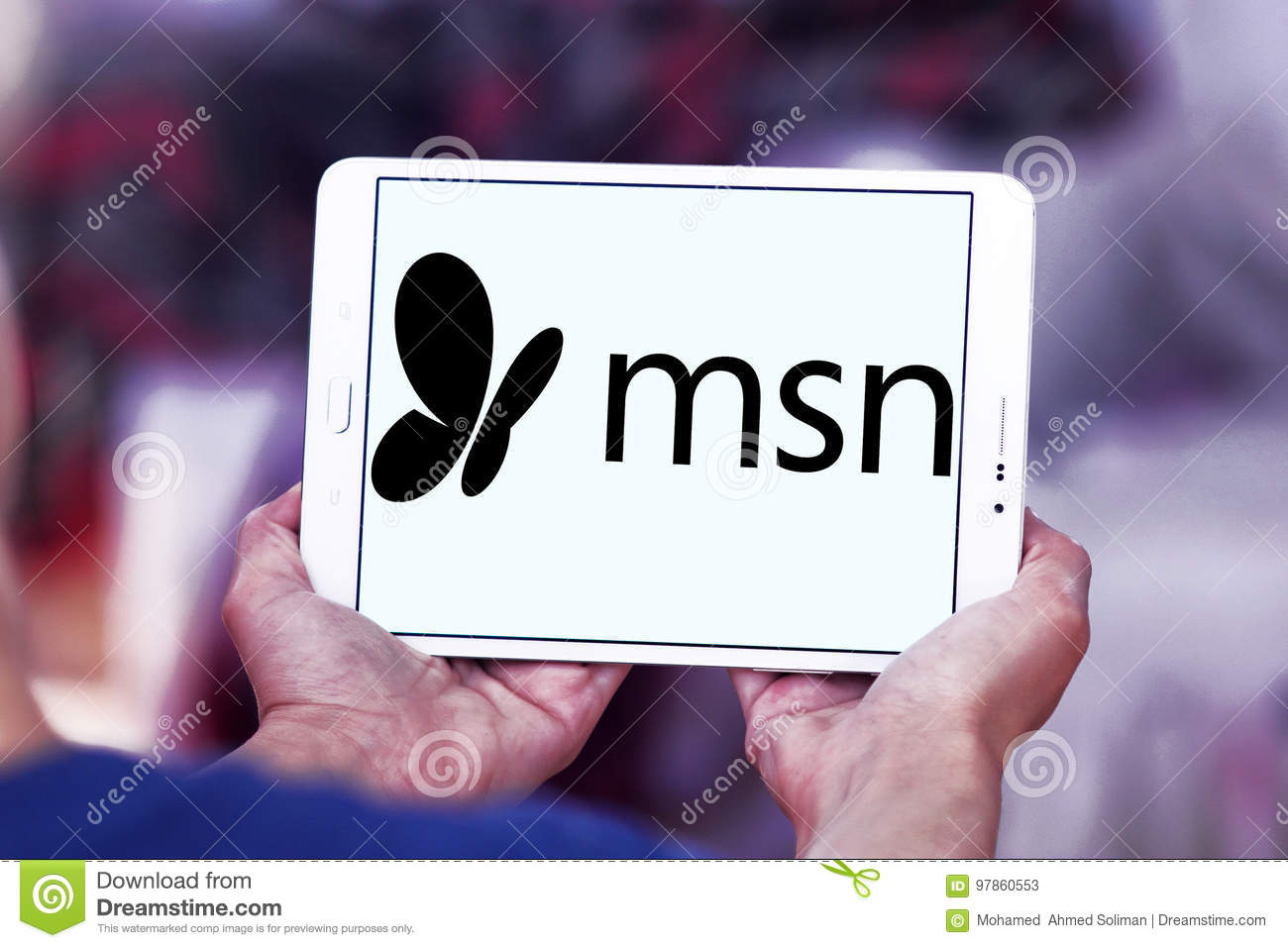 msn logo editorial stock photo image of launched logotype 97860553