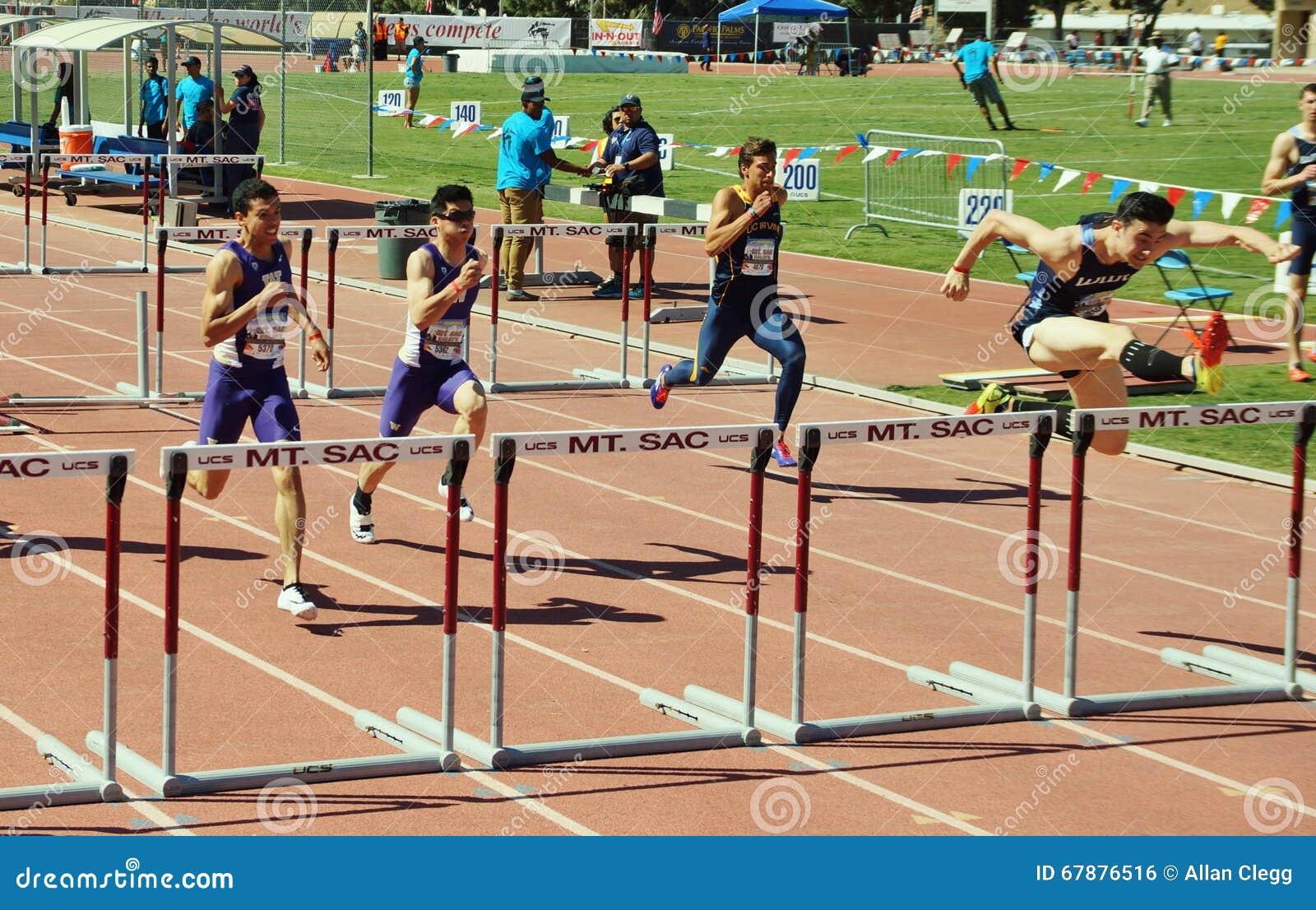 Mt 囊传递2015田径比赛, 100米高栏 前在历史的Hilmer小屋体育场将举行