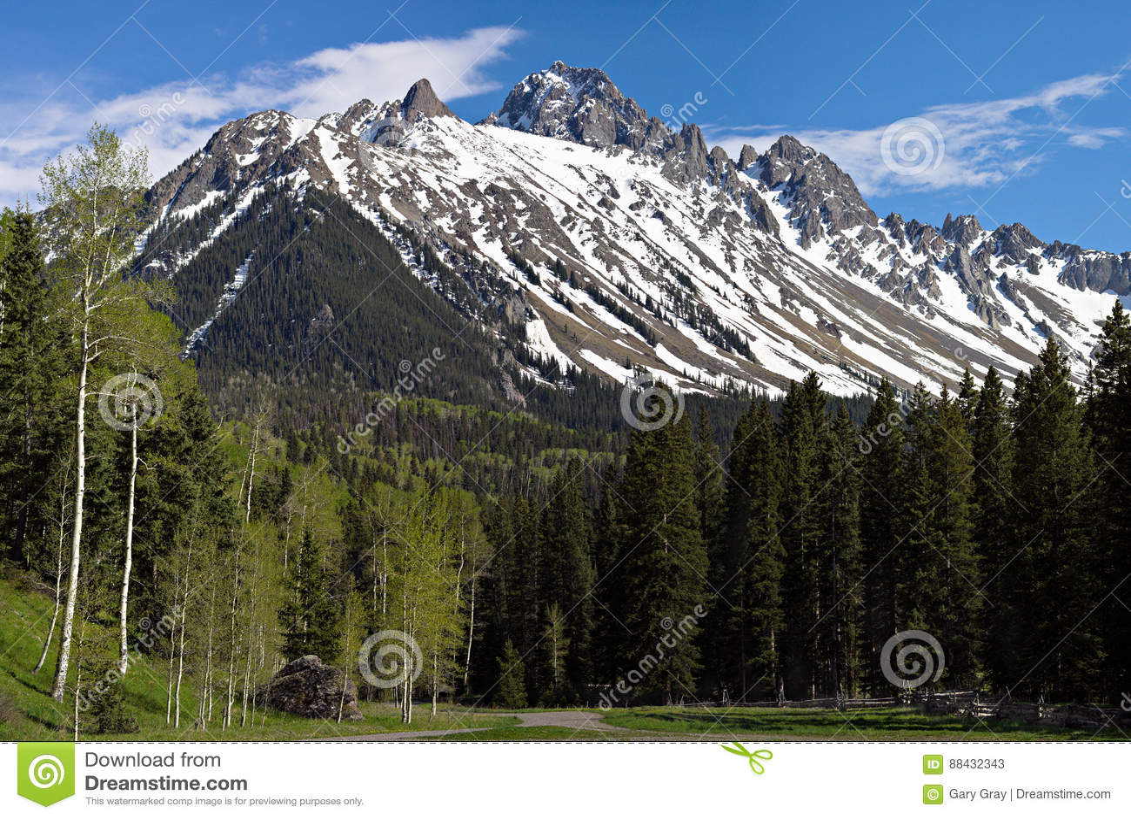 Mt 在1月胡安山的Sneffels