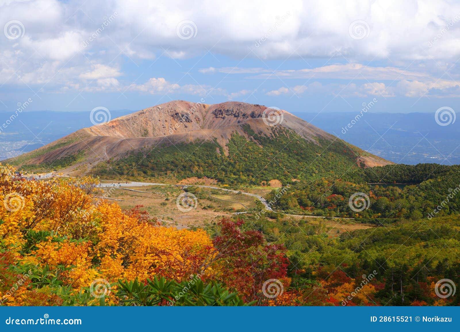 Mt. Azumakofuji dell autunno tinto