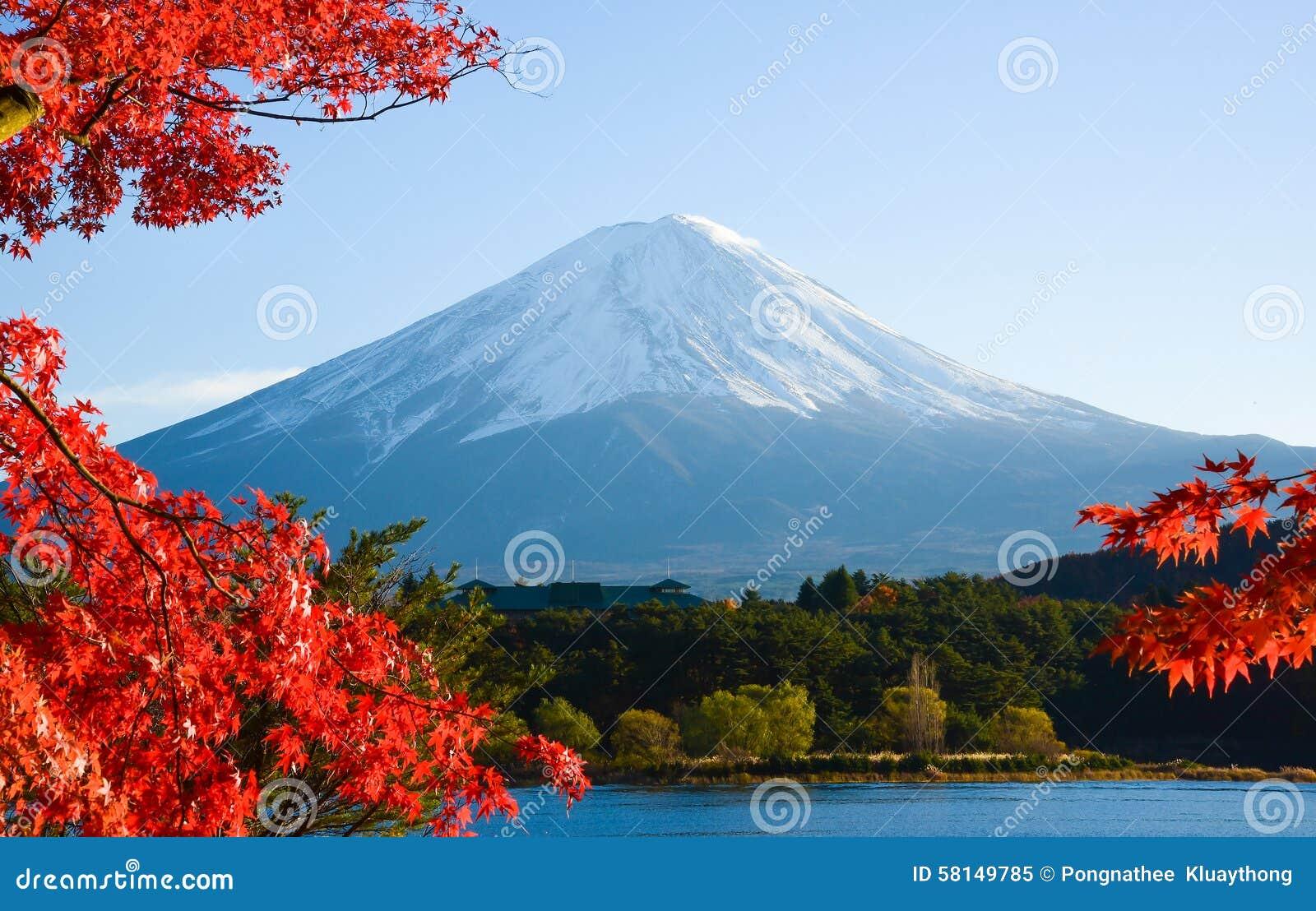 Mt Der Fujisan im Herbst