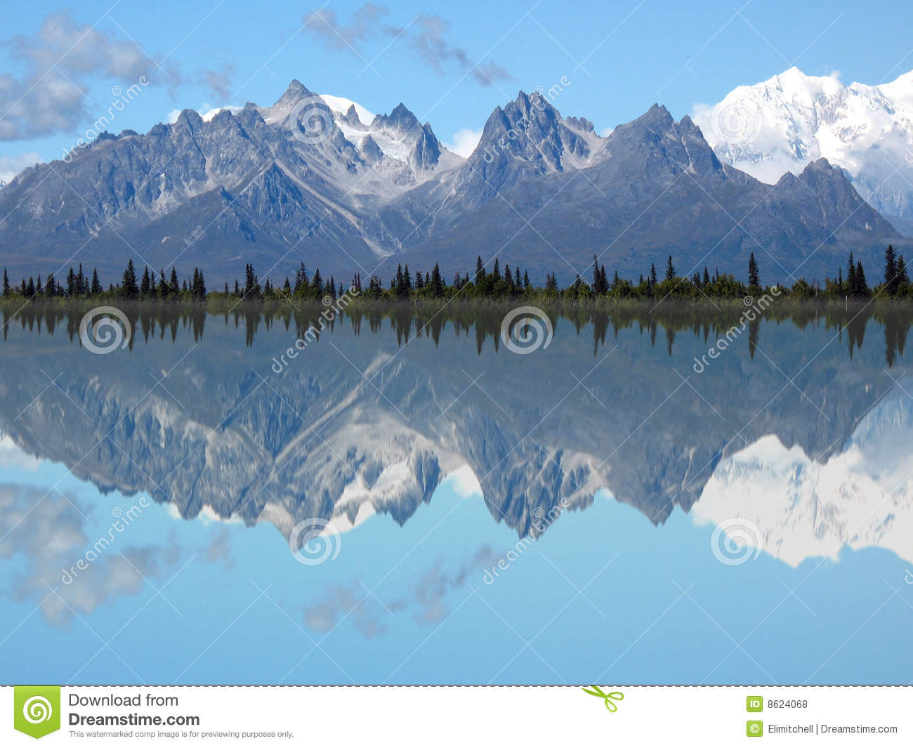 Mt. Foraker and Grand Tokosha Reflection in a Lake