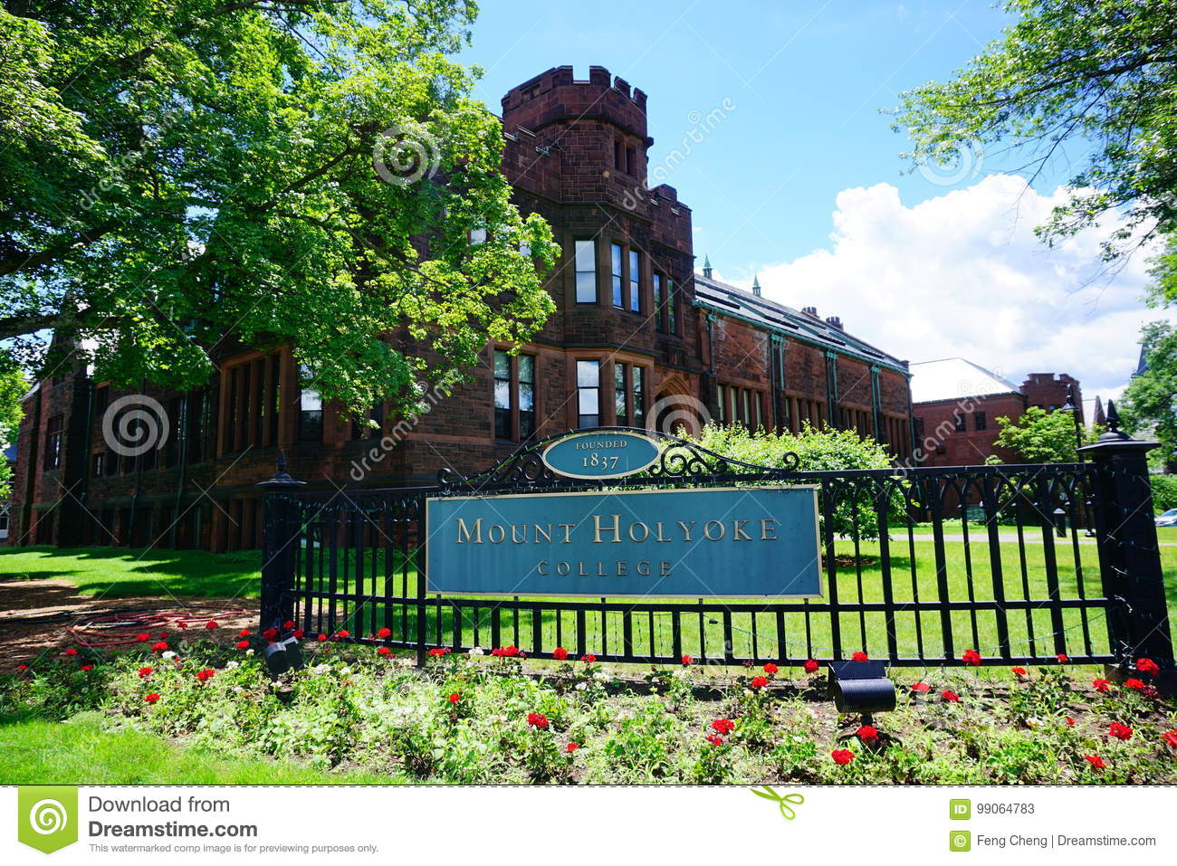 Mt Holyoke College Campus Entrance Editorial Stock Photo Image Of