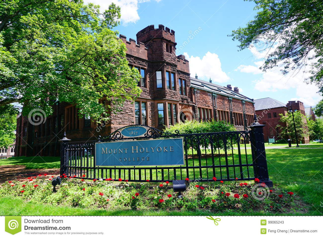 Mt Holyoke College Campus Landscape Editorial Stock Photo Image Of