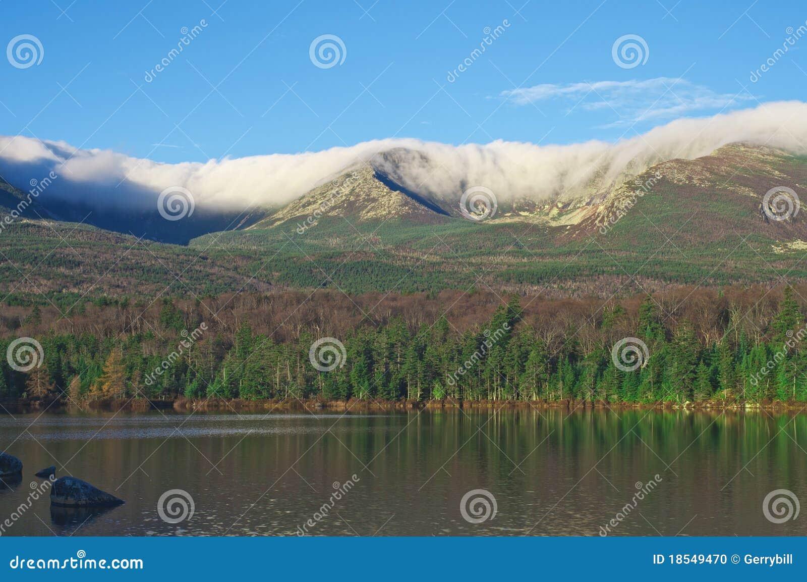Mt. Katahdin Knife Edge in Clouds