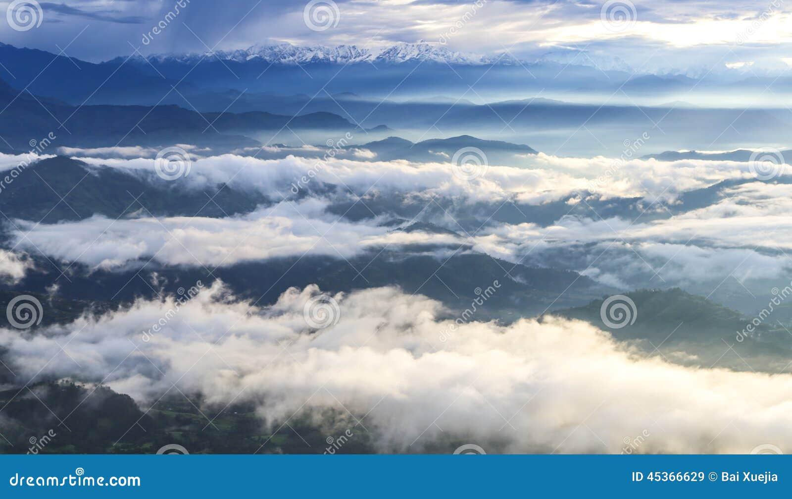 Mt nagarkot rentré par everest, Népal