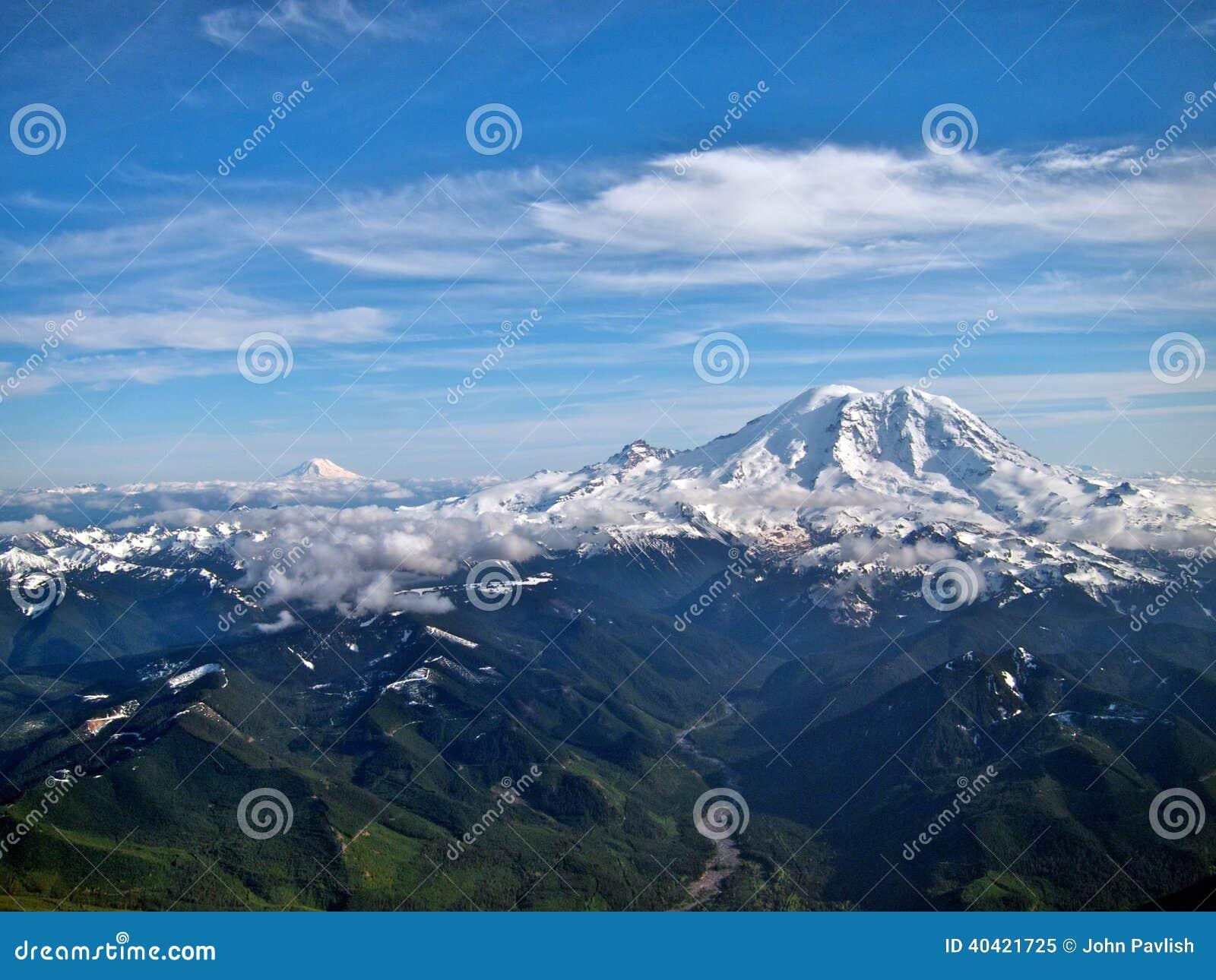 Mt Rainier Facing Mt Adams