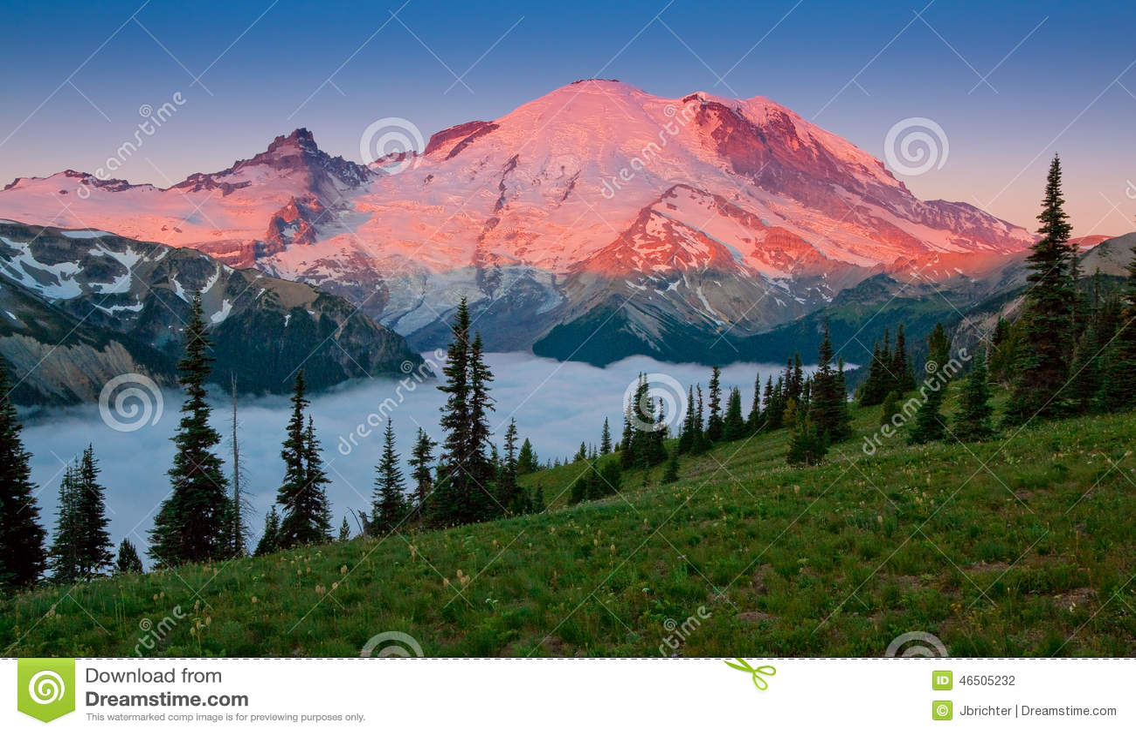 Mt. Rainier Glow