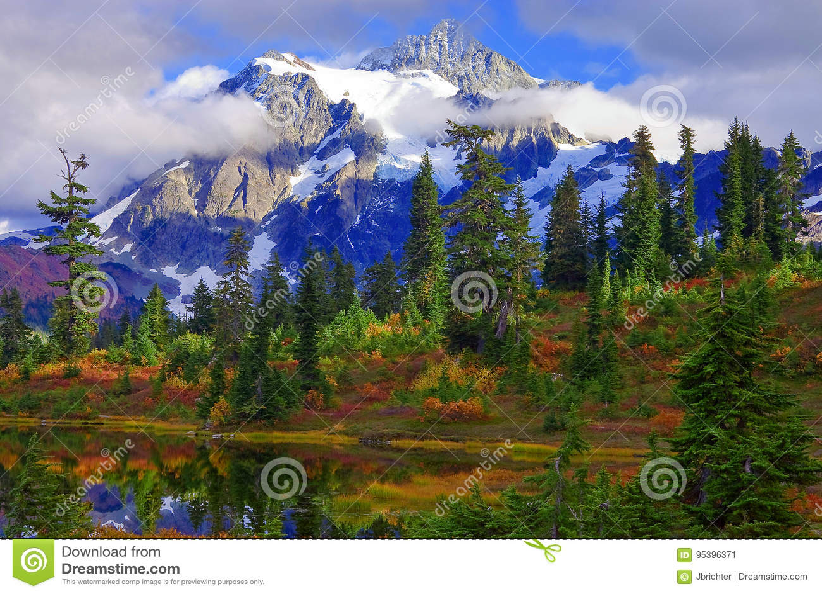 Mt Shuksan Shtat Vashington Stokovoe Izobrazhenie Izobrazhenie