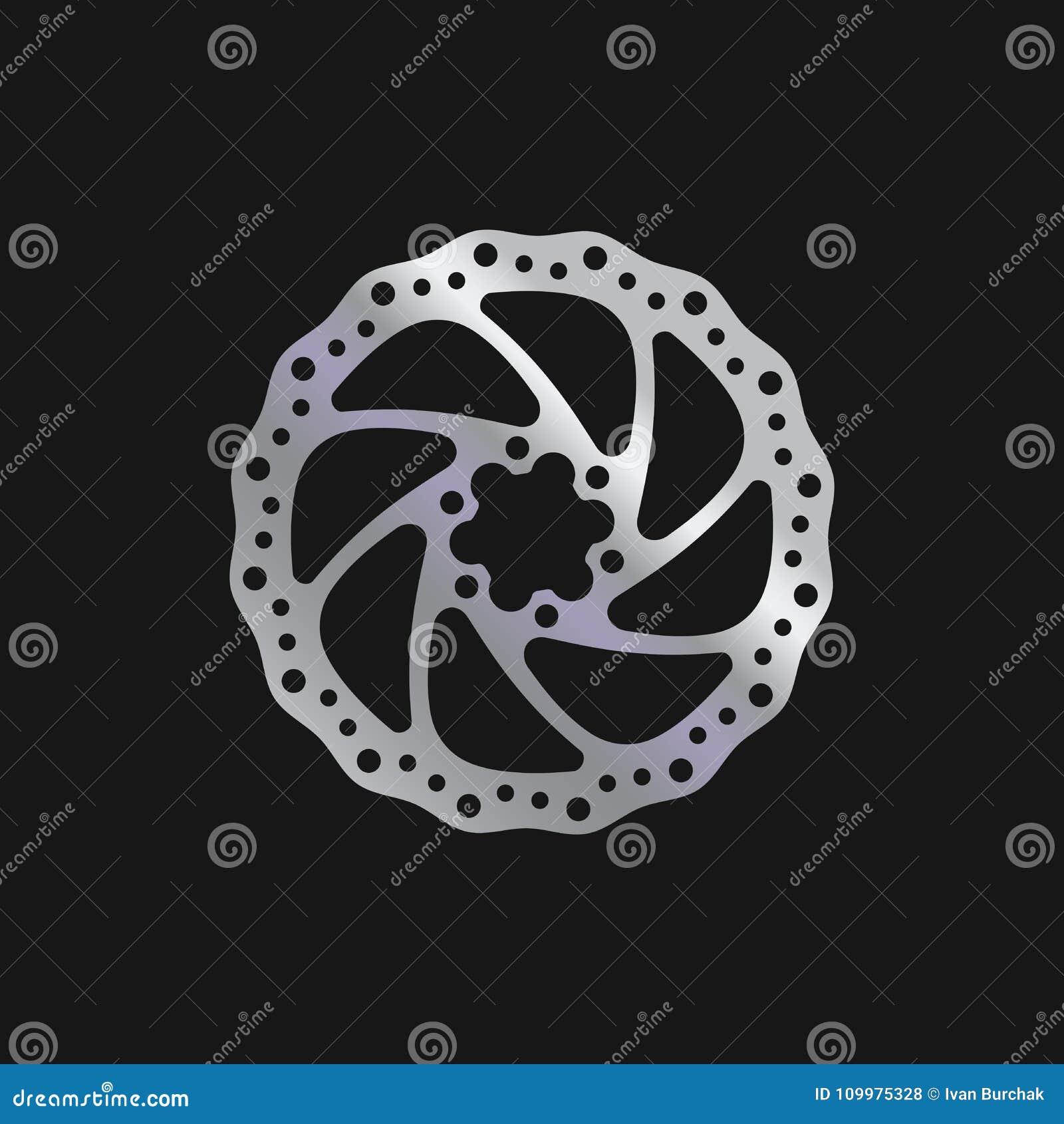 MTB Bike, Bicycle Brake Disc. Realistic Vector Illustration