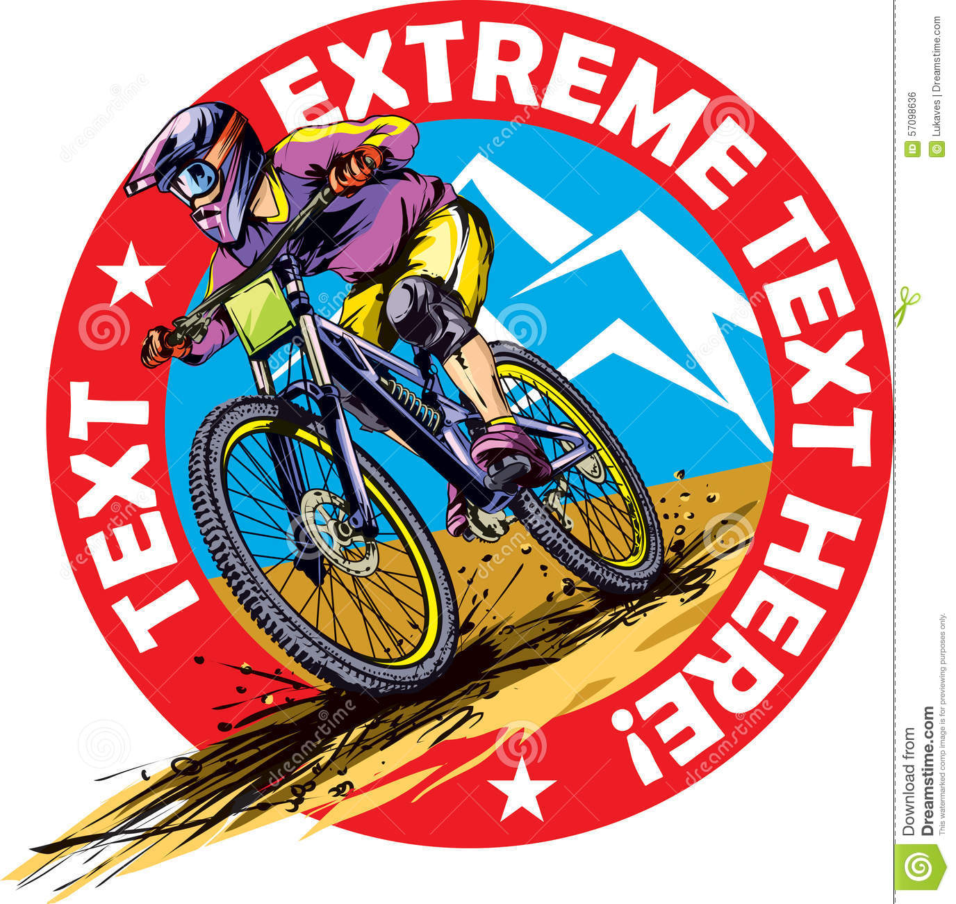 Mtb Rider Stock Illustrations – 179 Mtb Rider Stock ...