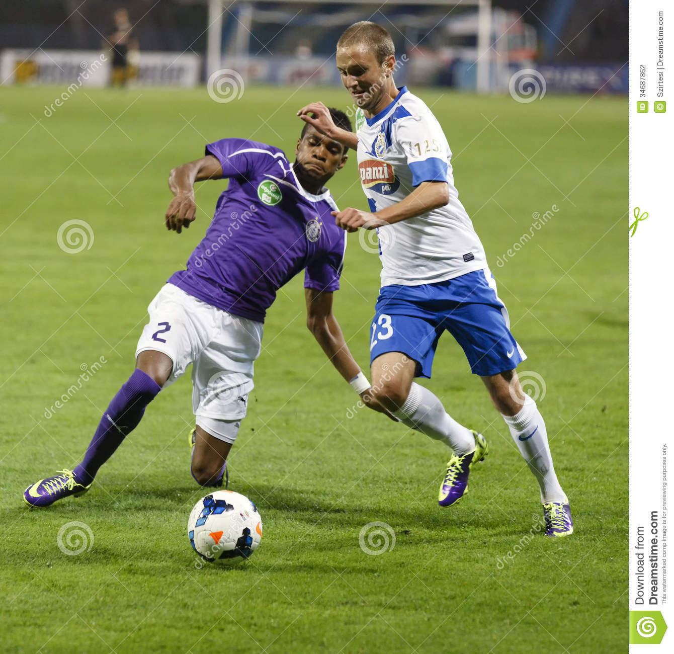 MTK Vs. Ujpest OTP Bank League Match Editorial Photography ...