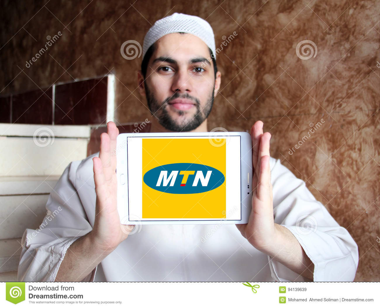 Mtn mobile operator logo editorial stock image  Image of