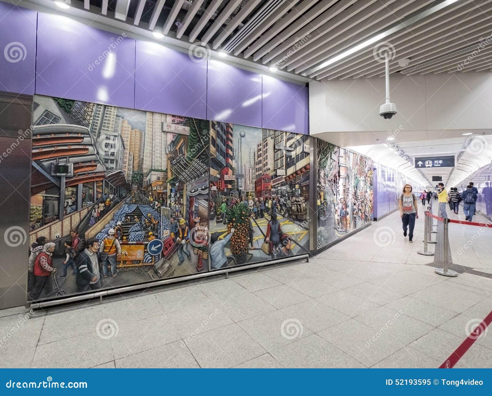 MTR Sai Ying kalambura staci grafika - rozszerzenie wyspy linia Zachodni okręg, Hong Kong