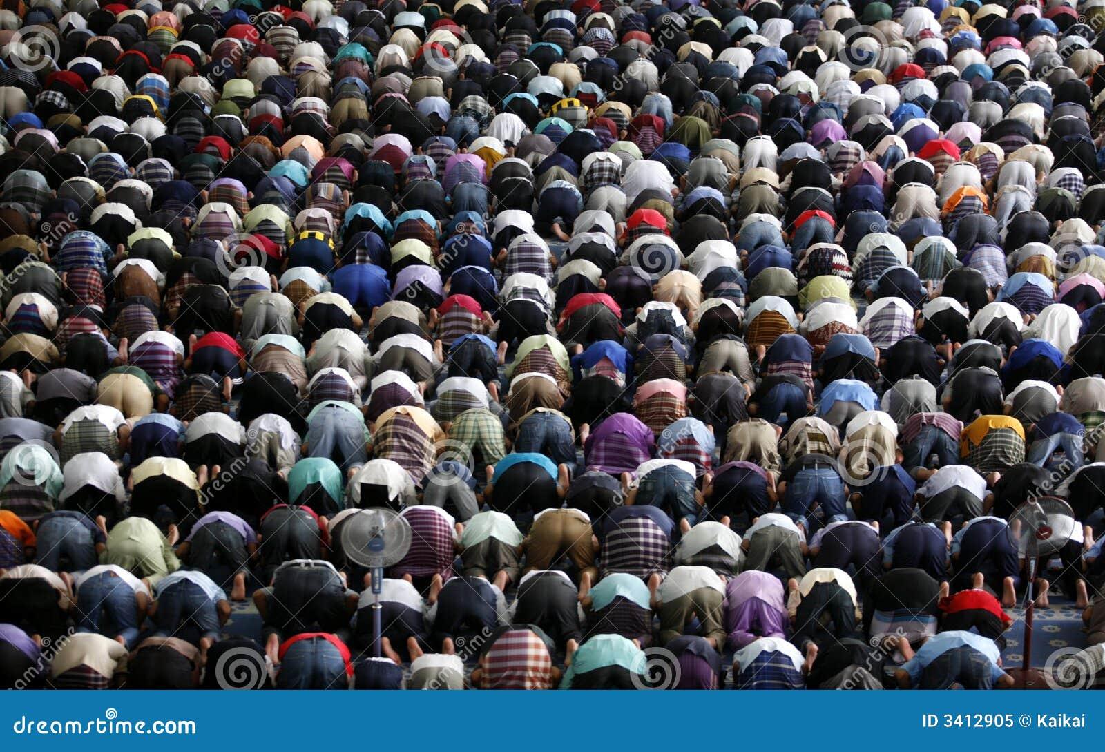 Muçulmanos que praying