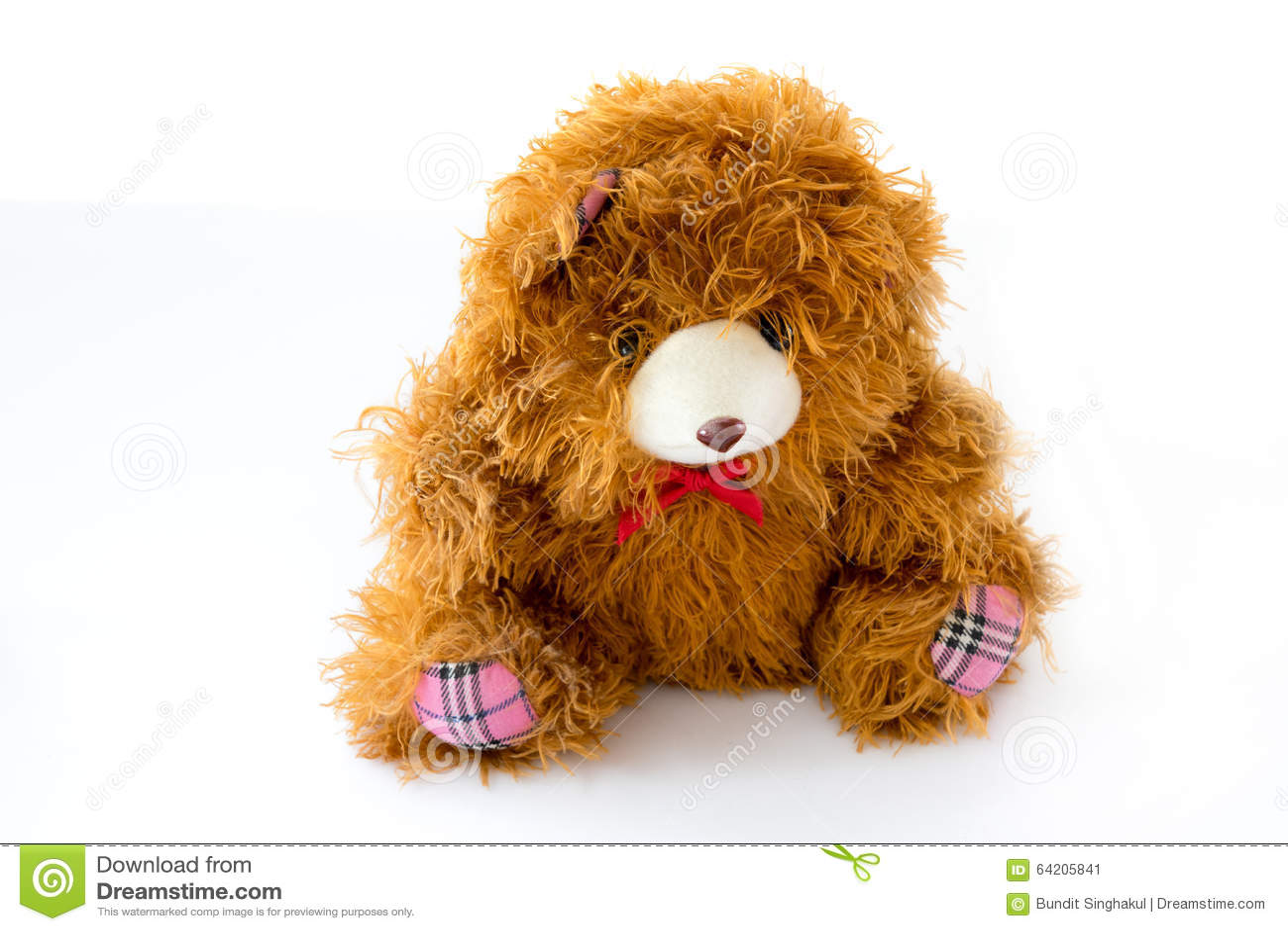 Muñeca del oso de peluche de Brown aislada