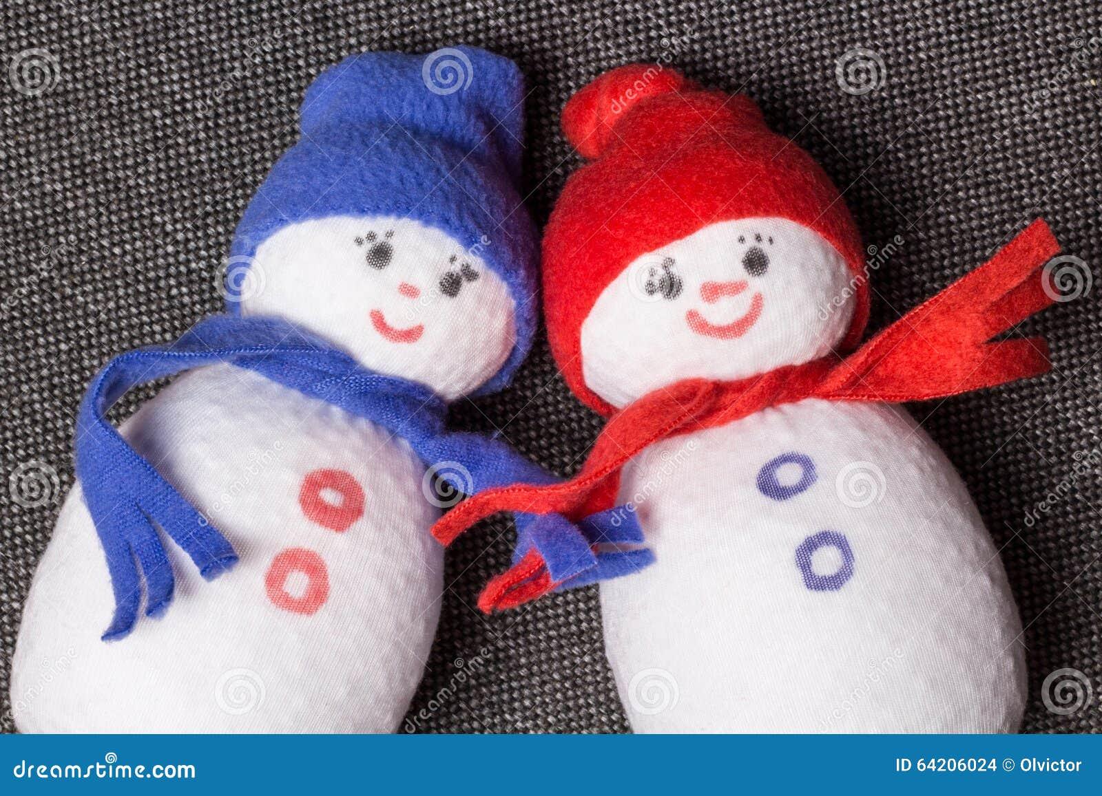 Muñeco de nieve de los pares juguete suave