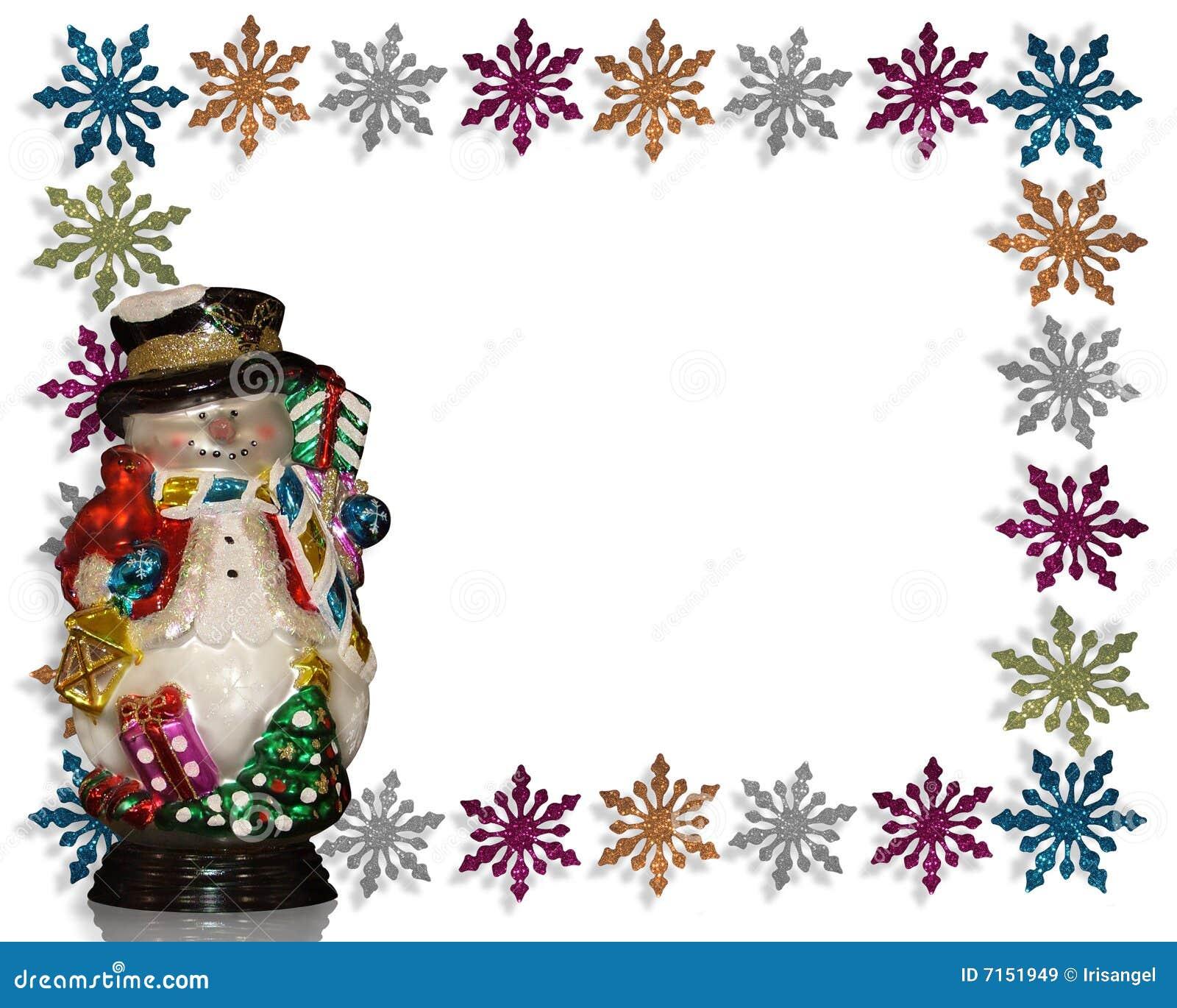 Muñeco de nieve del fondo de la Navidad