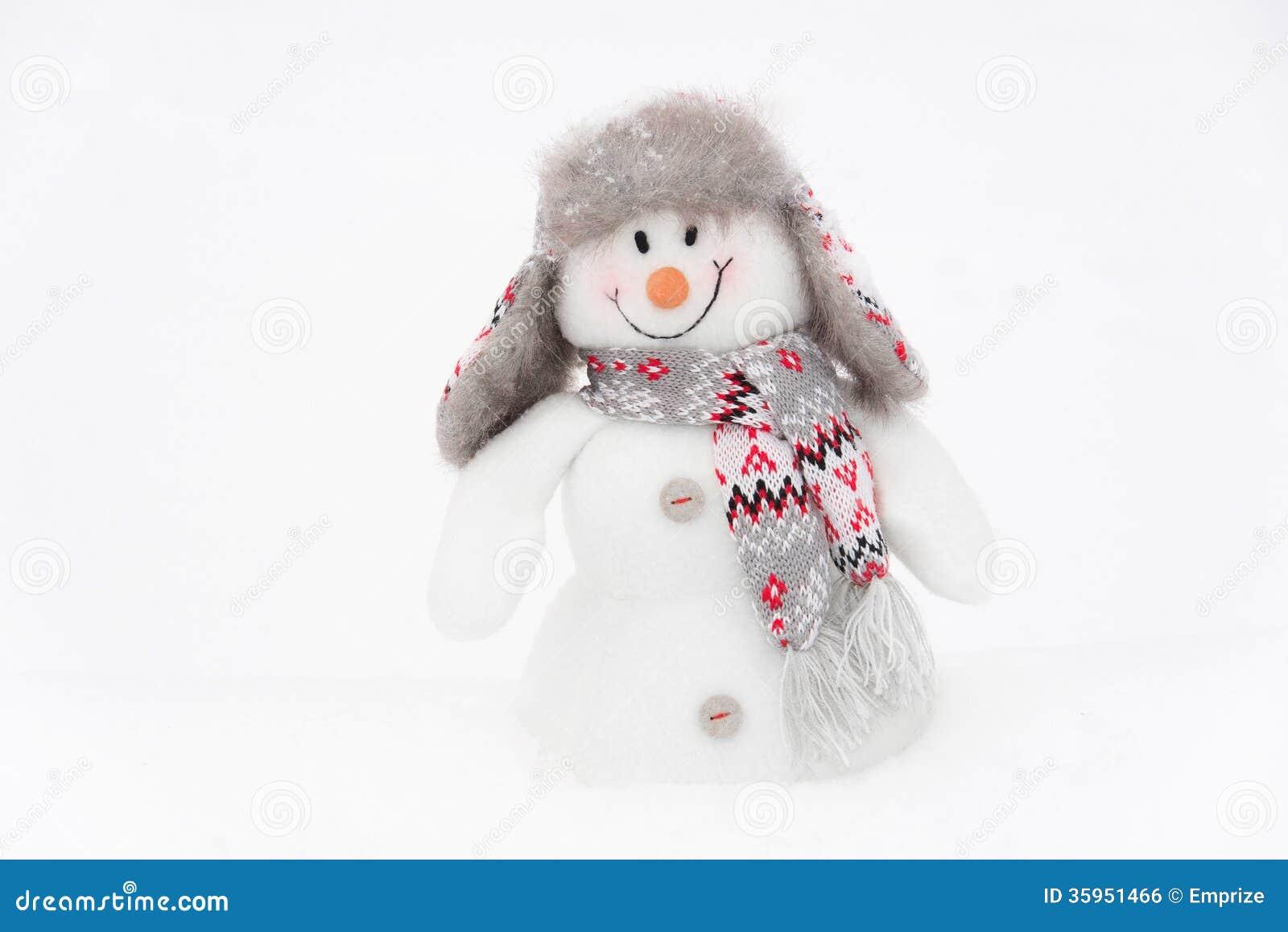 Muñeco de nieve feliz del invierno