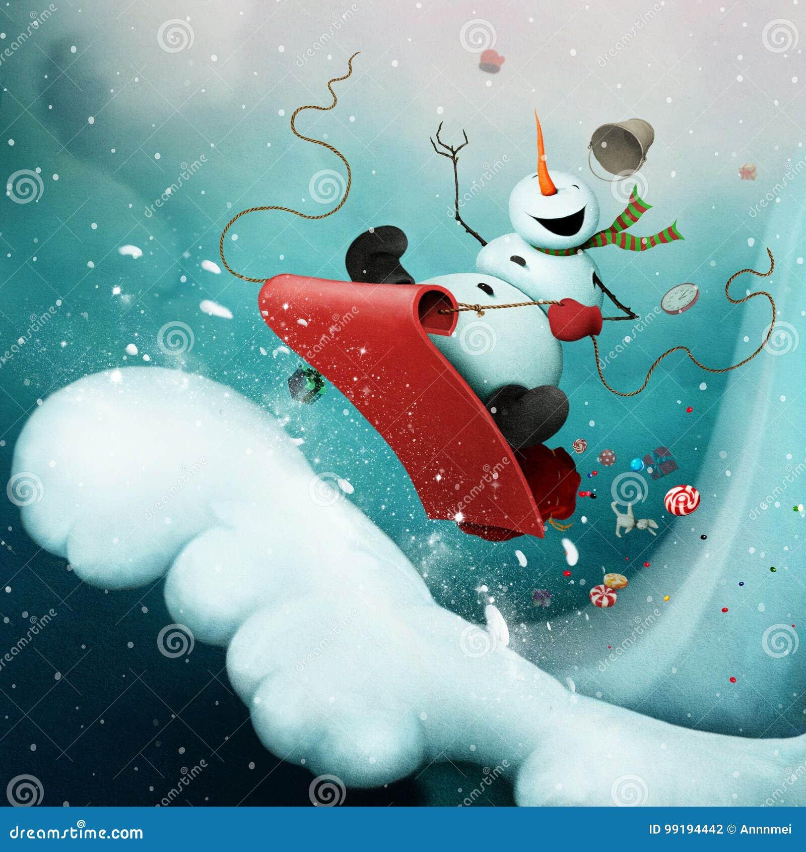Muñeco de nieve loco
