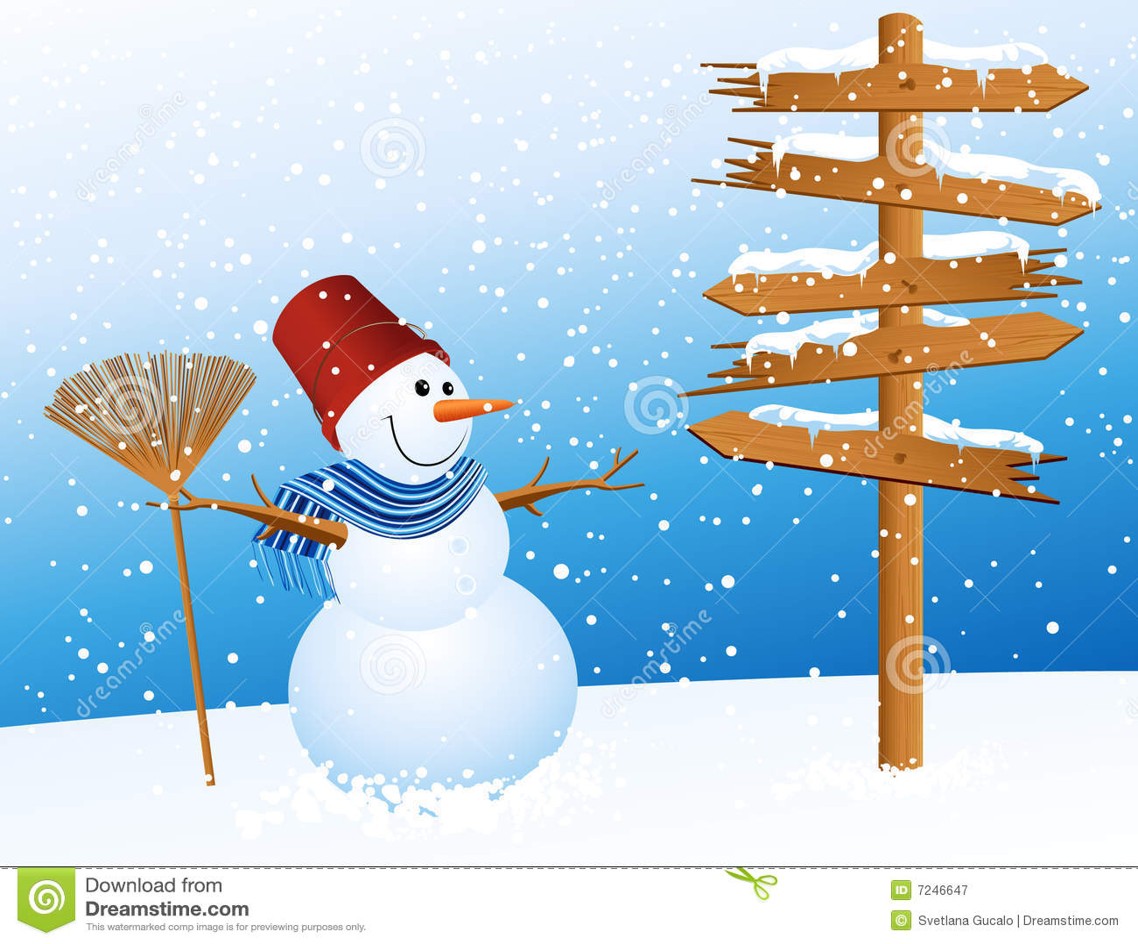 Muñeco de nieve y flecha