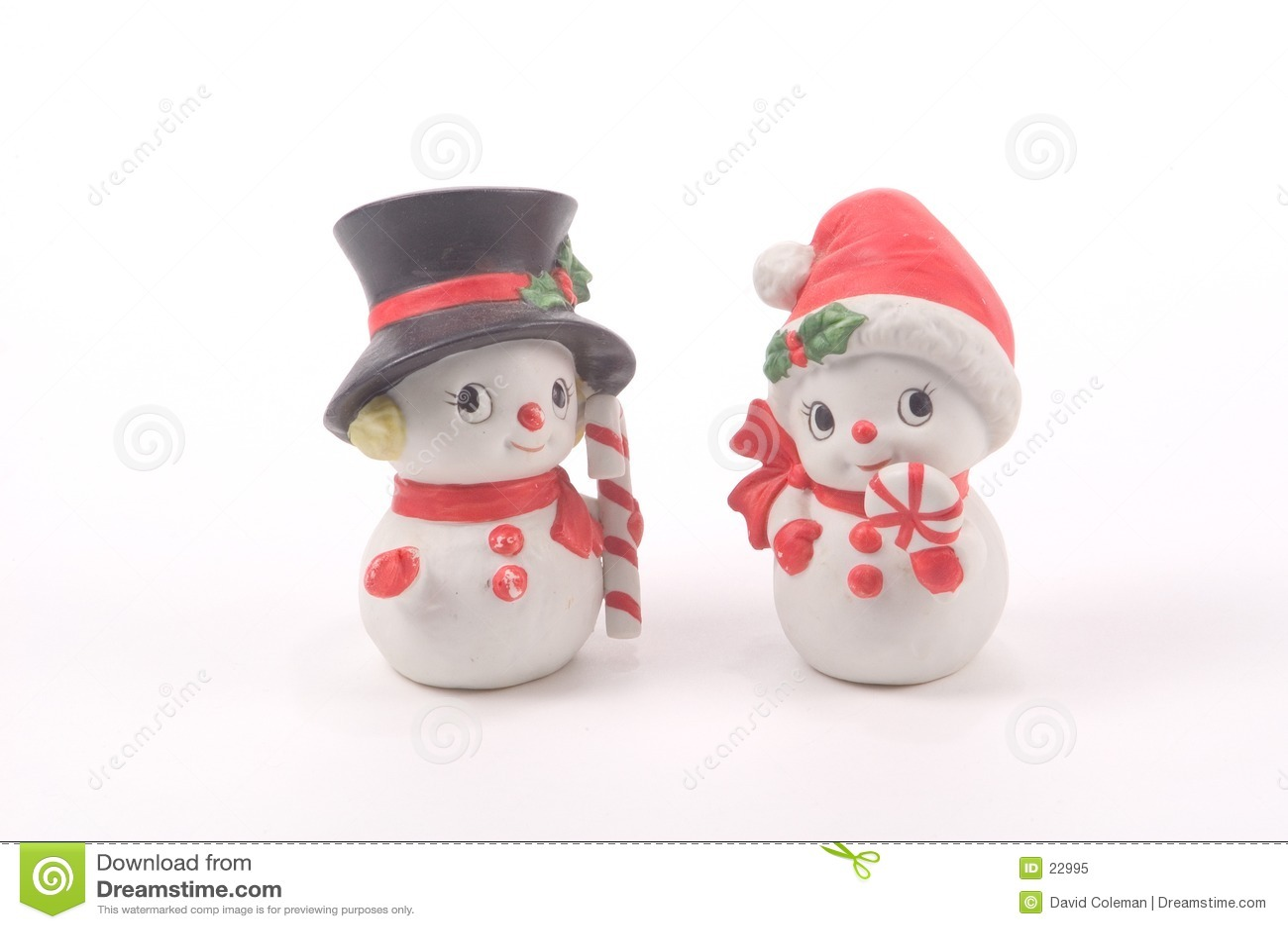Muñeco de nieve y mujer de la nieve