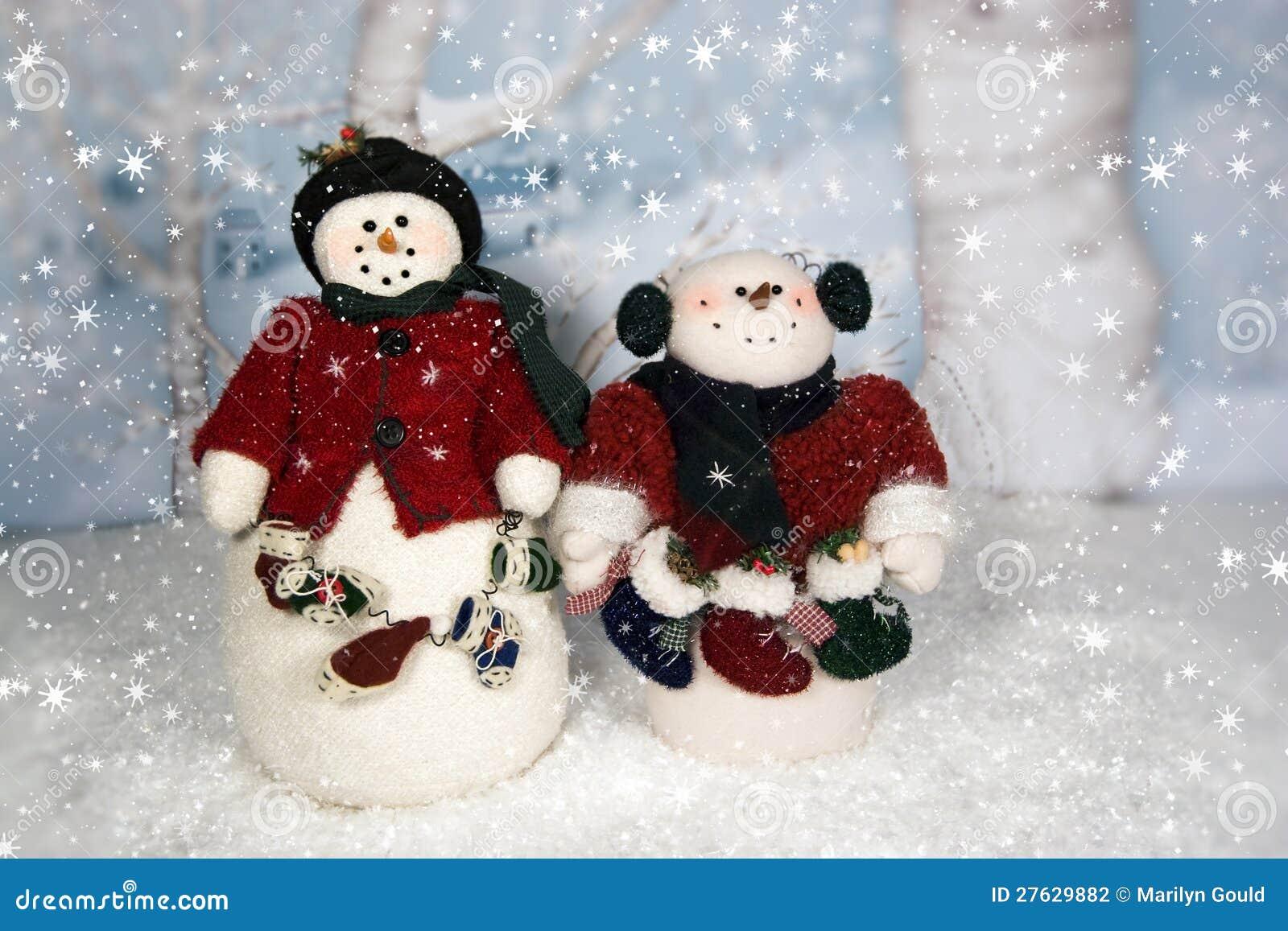Muñecos de nieve de la Navidad