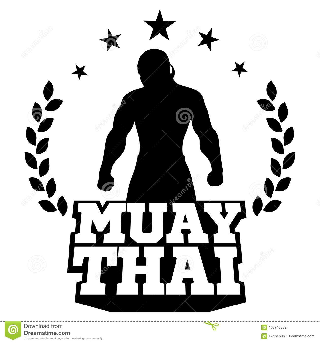 muay thai vector logo for boxing gym or other stock vector rh dreamstime com muay thai logo designs muay thai logo designs
