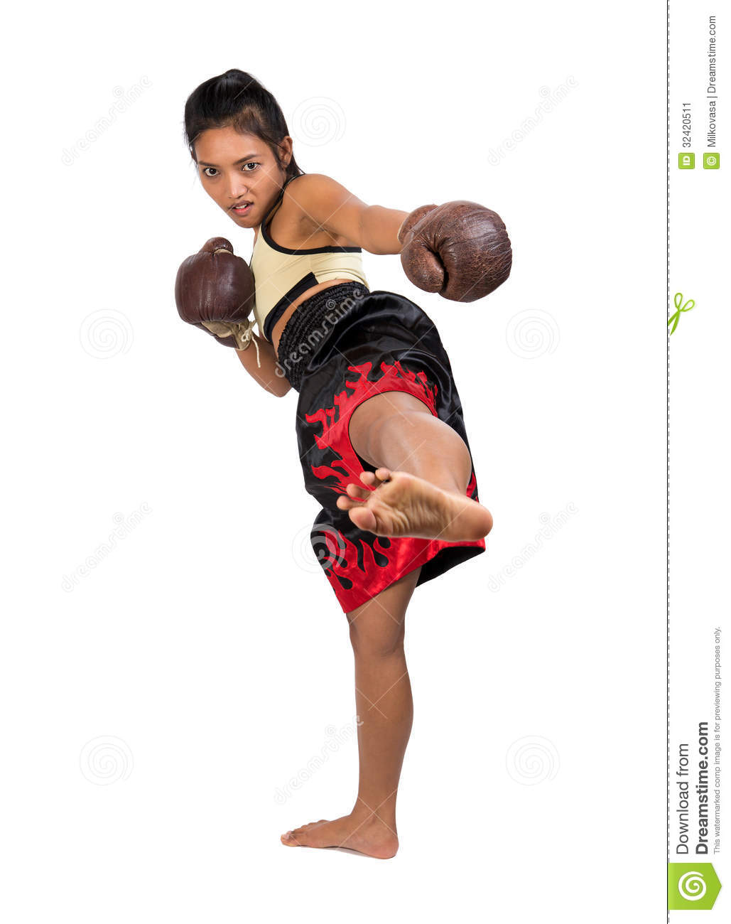 Muay Thai stock image. Image of conflict, adult, anger ...