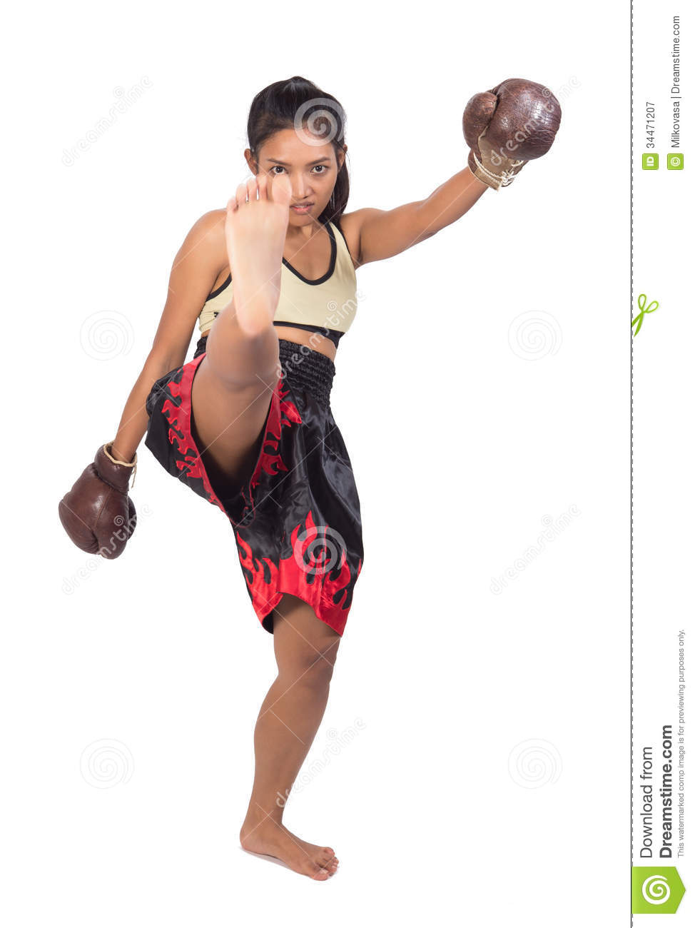 Muay Thai fighter stock image. Image of culture, ahead ...
