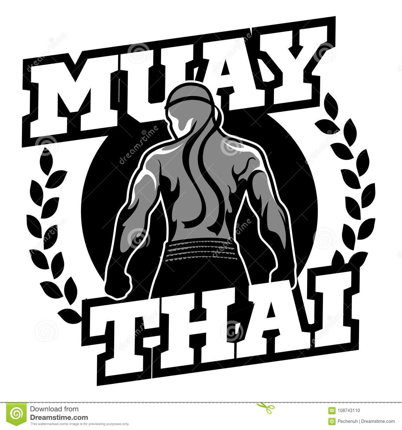 muay thai vector logo for boxing gym or other stock vector rh dreamstime com Muay Thai Techniques Thailand Muay Thai Logo