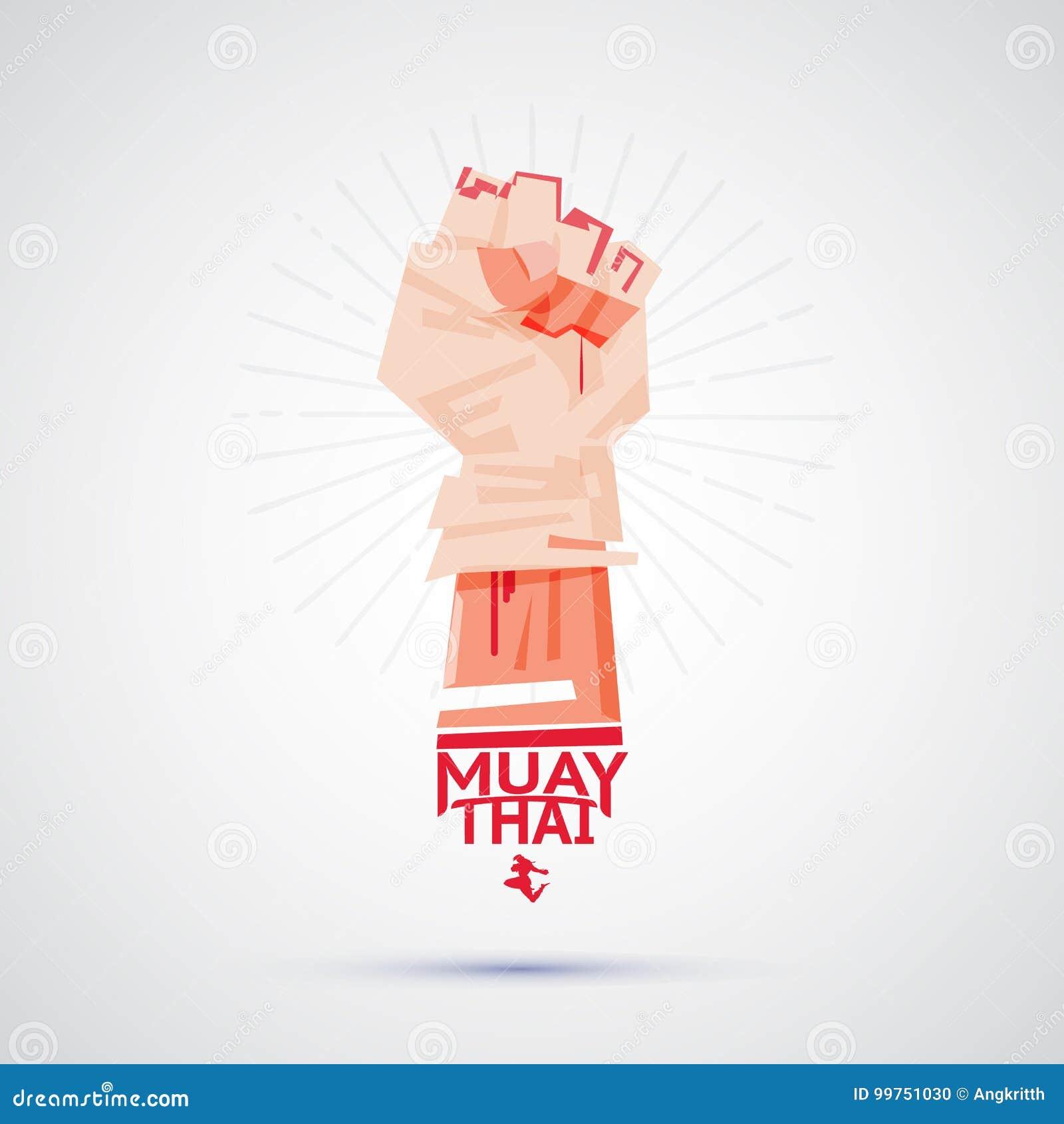 Muay Thaise vechter met het binden van band rond zijn hand die aan F voorbereidingen treffen