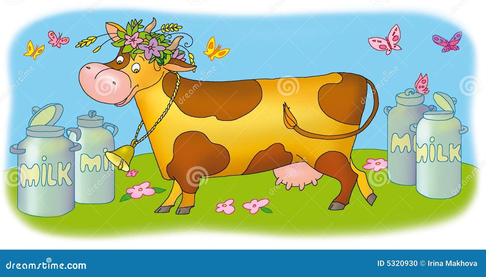 Download Mucca illustrazione di stock. Illustrazione di fiore, umore - 5320930