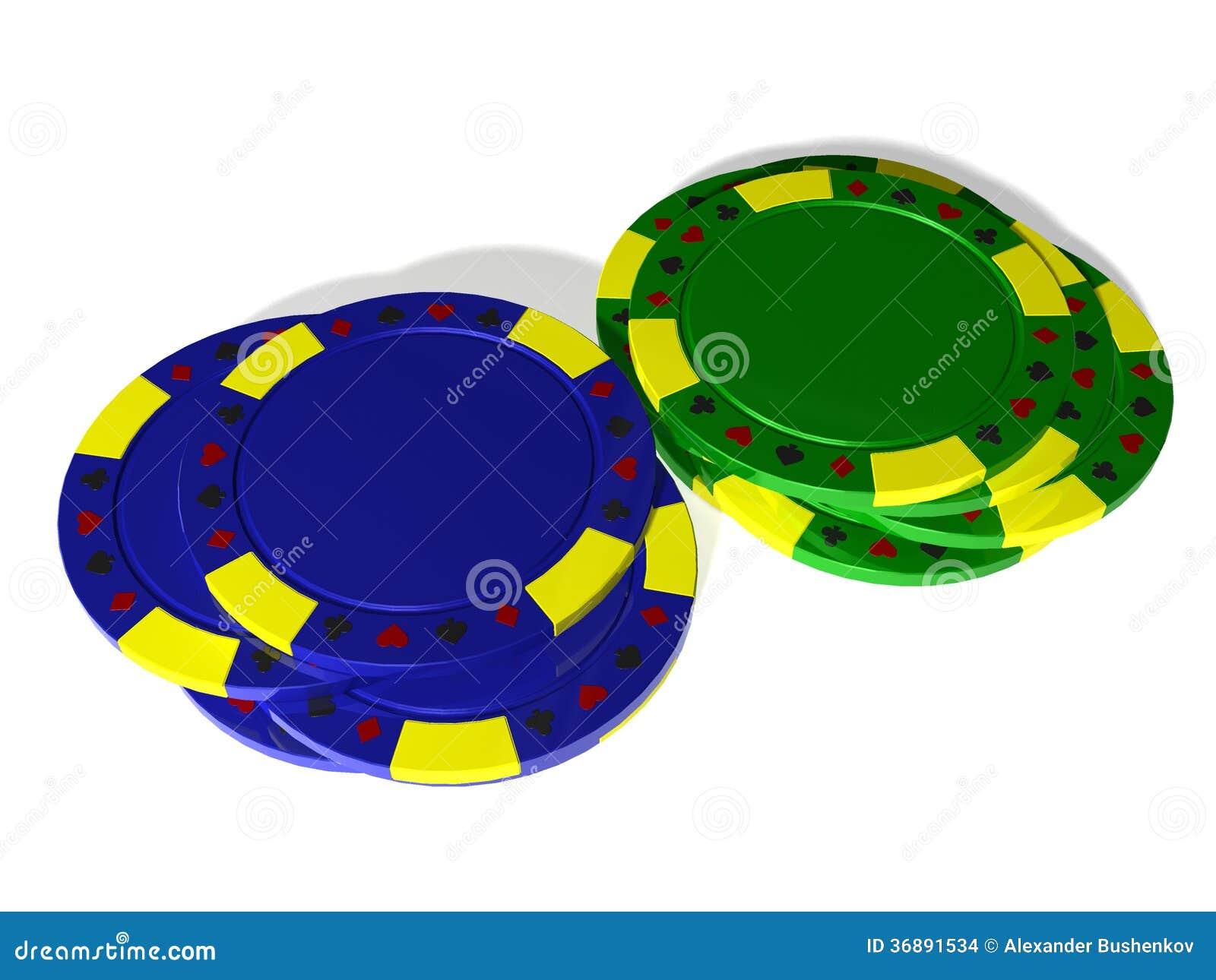 Download Mucchio Blu E Verde Dei Chip Di Mazza Fotografia Stock - Immagine di colore, perdita: 36891534