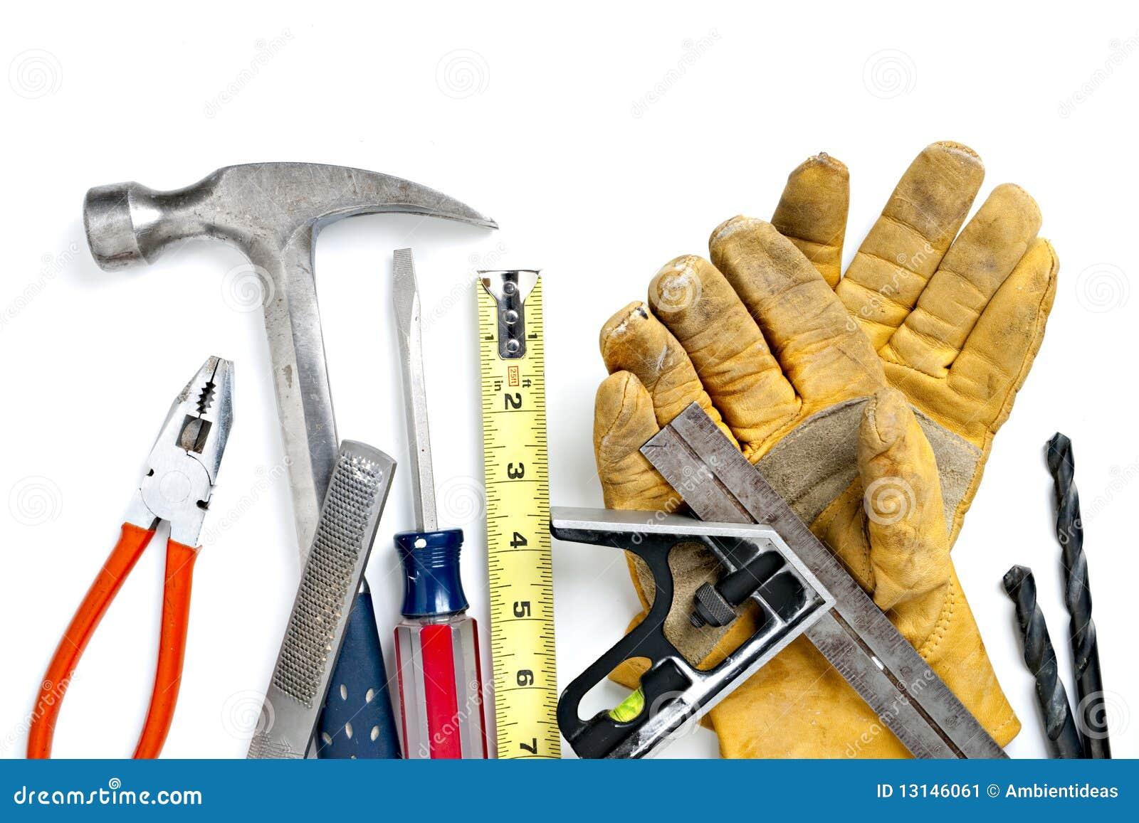 Mucchio degli strumenti della costruzione