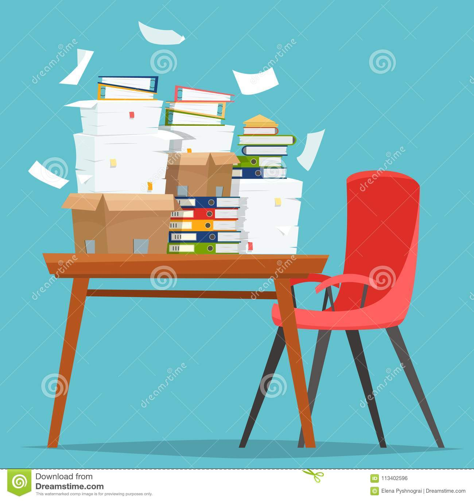 Contenitori Per Documenti Ufficio.Mucchio Dei Documenti Cartacei E Delle Cartelle Di Archivio In