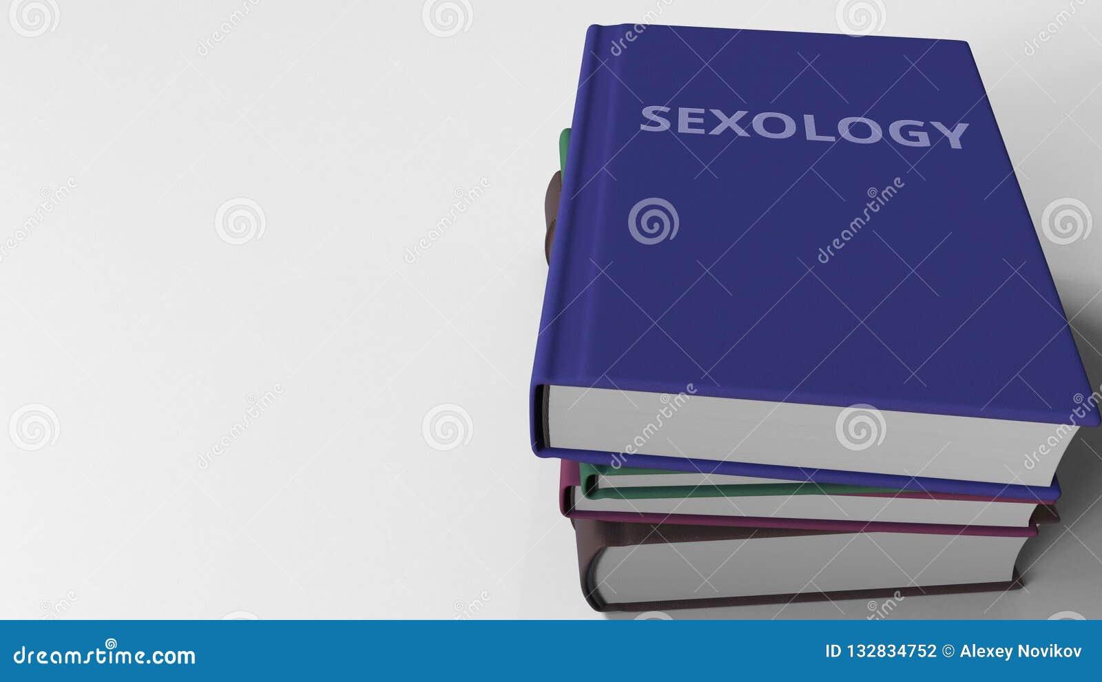 Mucchio dei libri su SESSUOLOGIA, rappresentazione 3D
