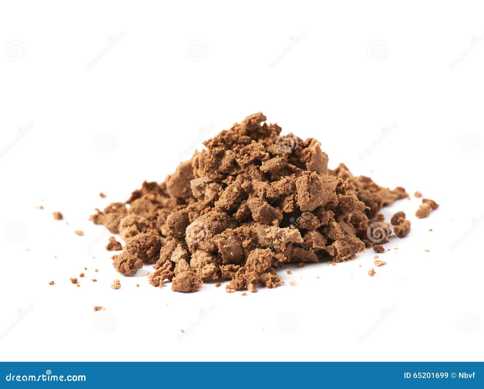 Mucchio delle briciole della pralina