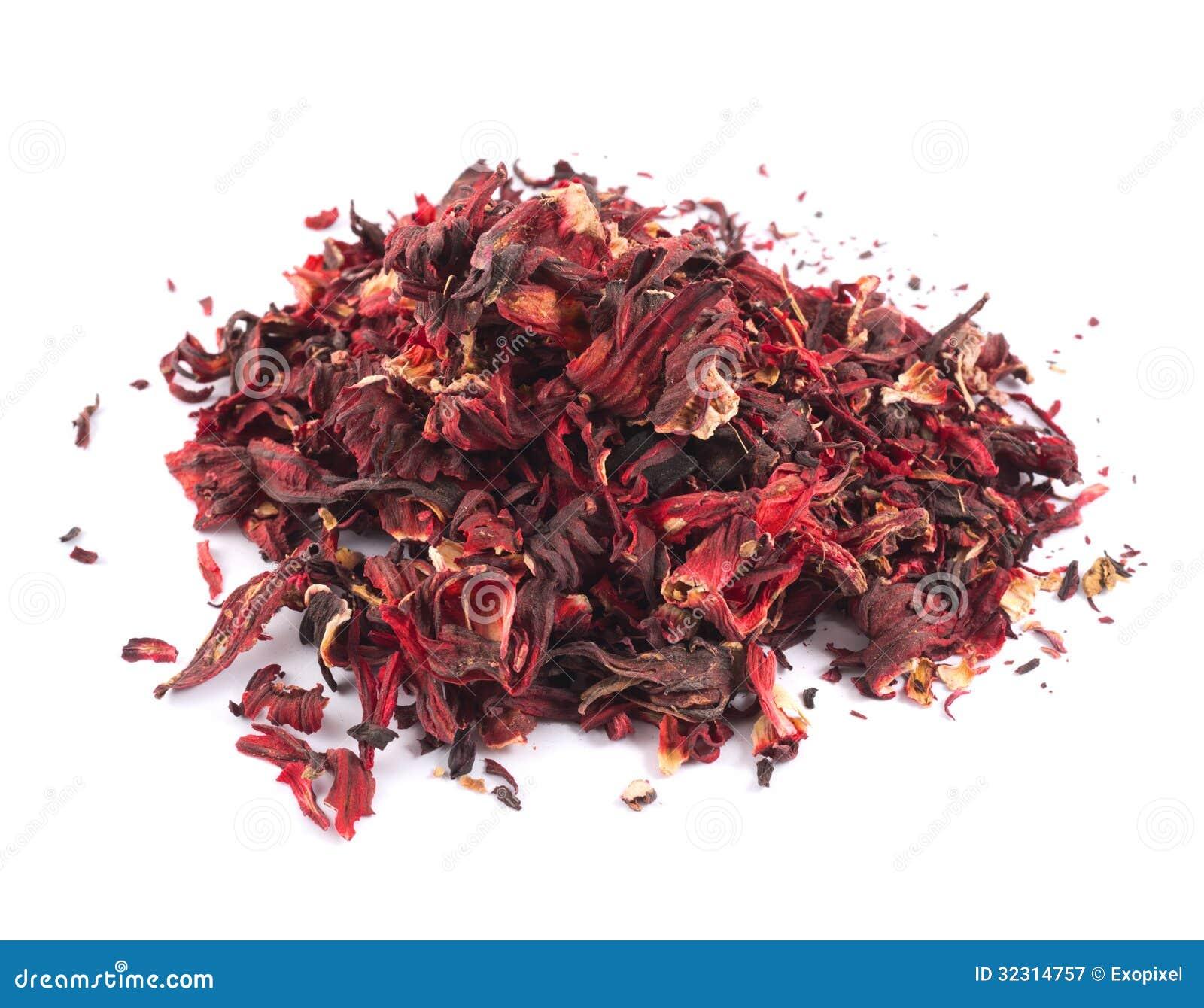 Mucchio delle foglie di tè secche