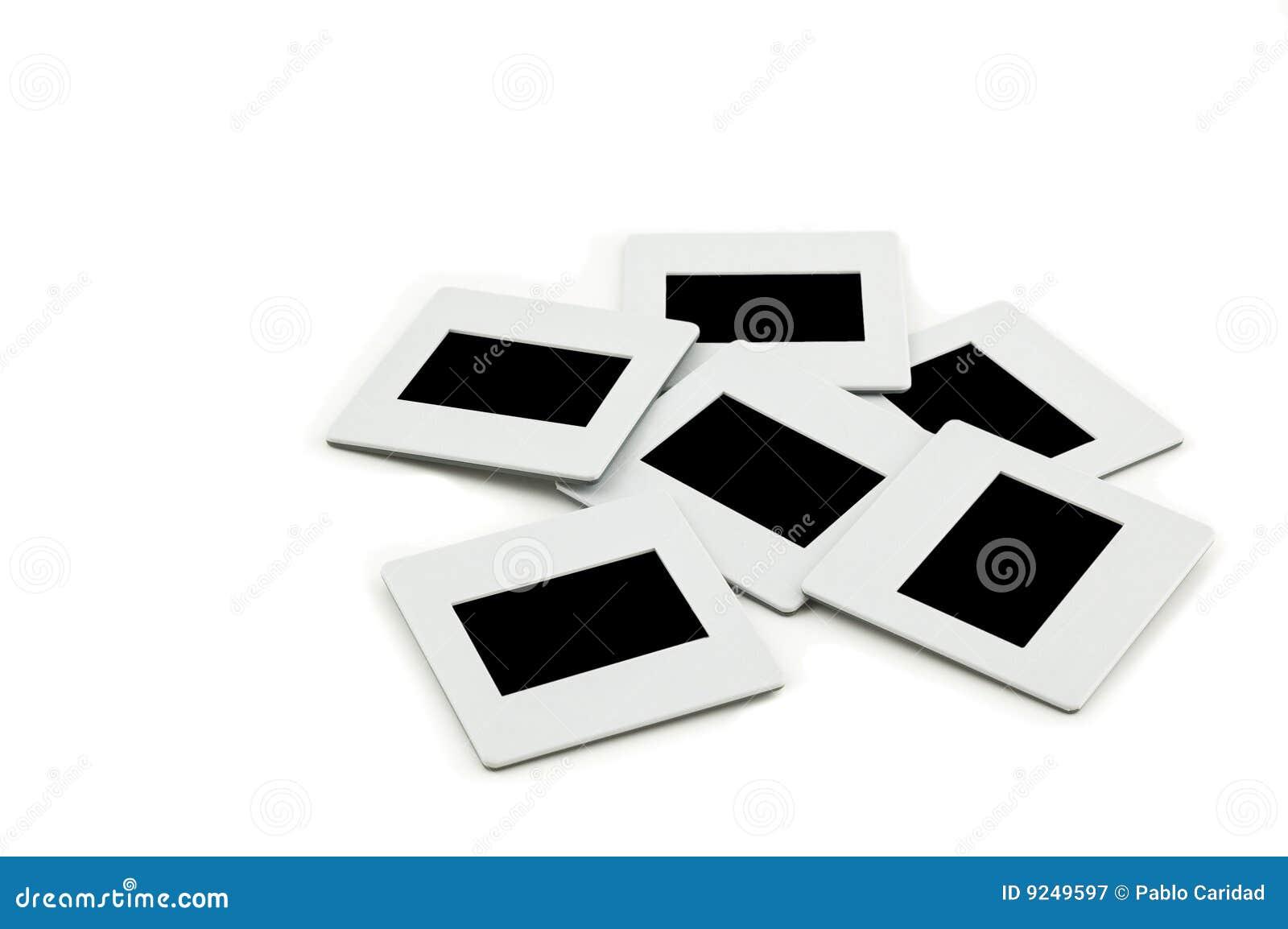 Mucchio delle trasparenze con i blocchi per grafici su llightbox