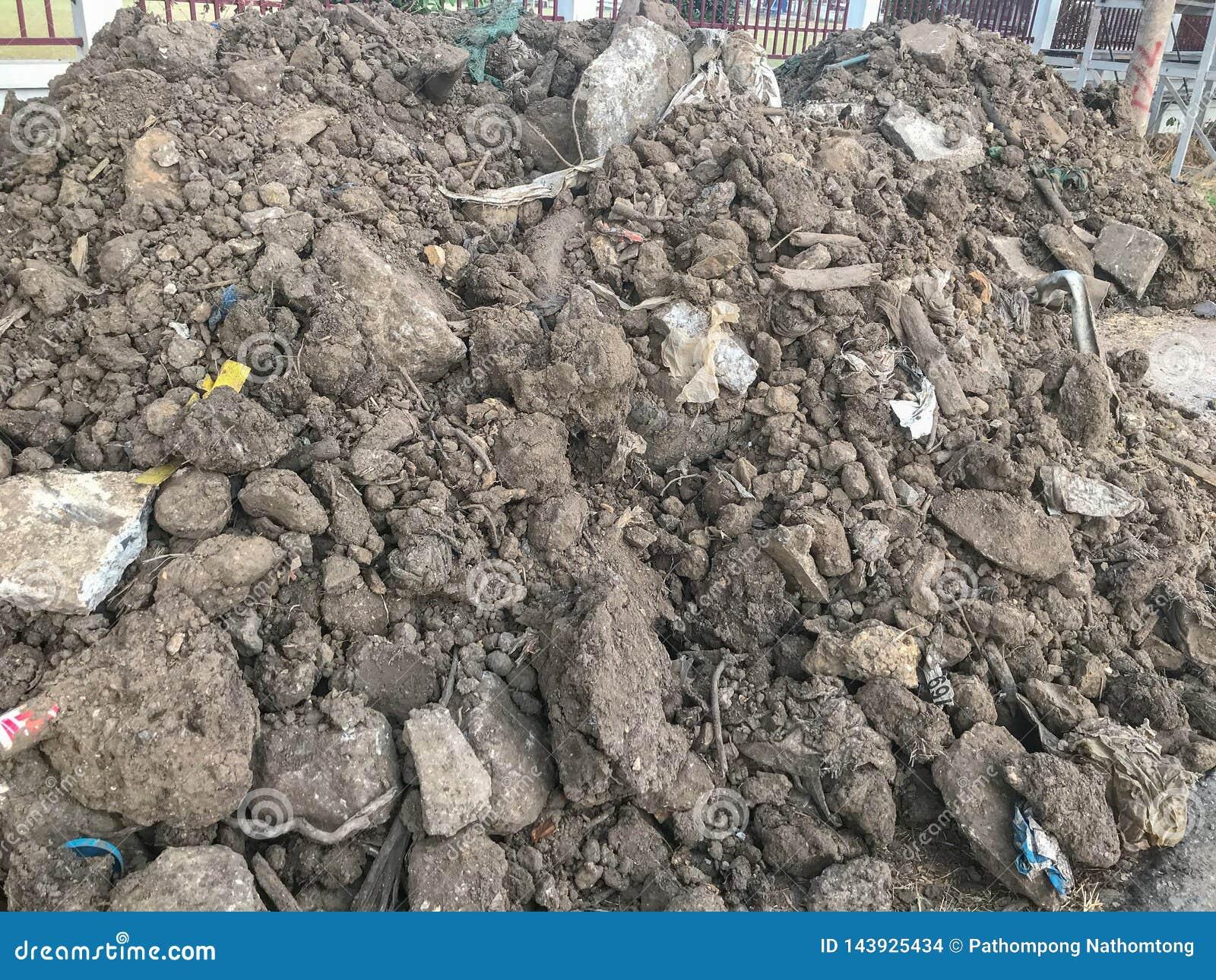 Mucchio di sporcizia per costruzione
