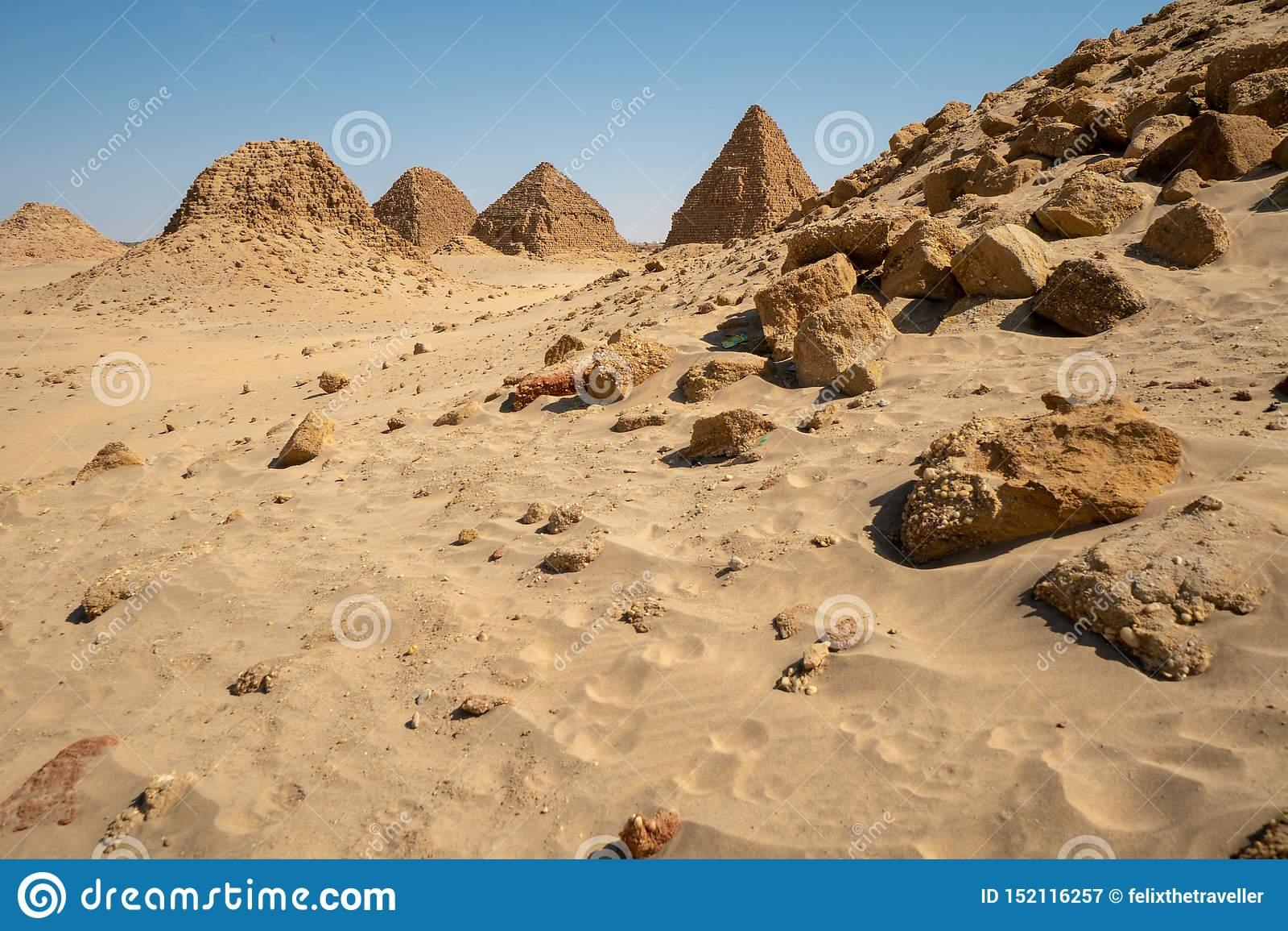 Nubian Pyramids in the Sudan - Nuri
