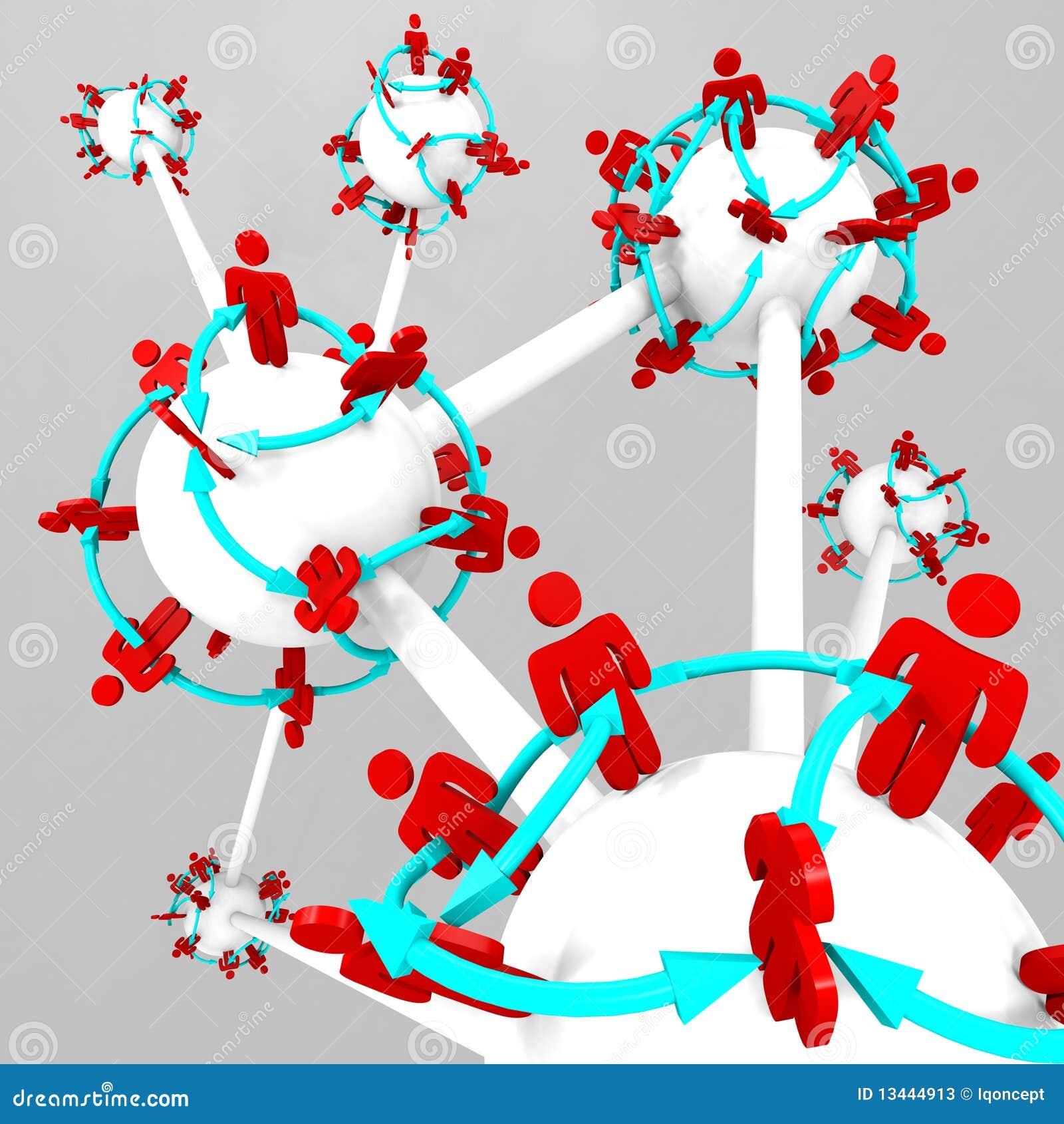 Mucha gente conectada en los mundos conectados