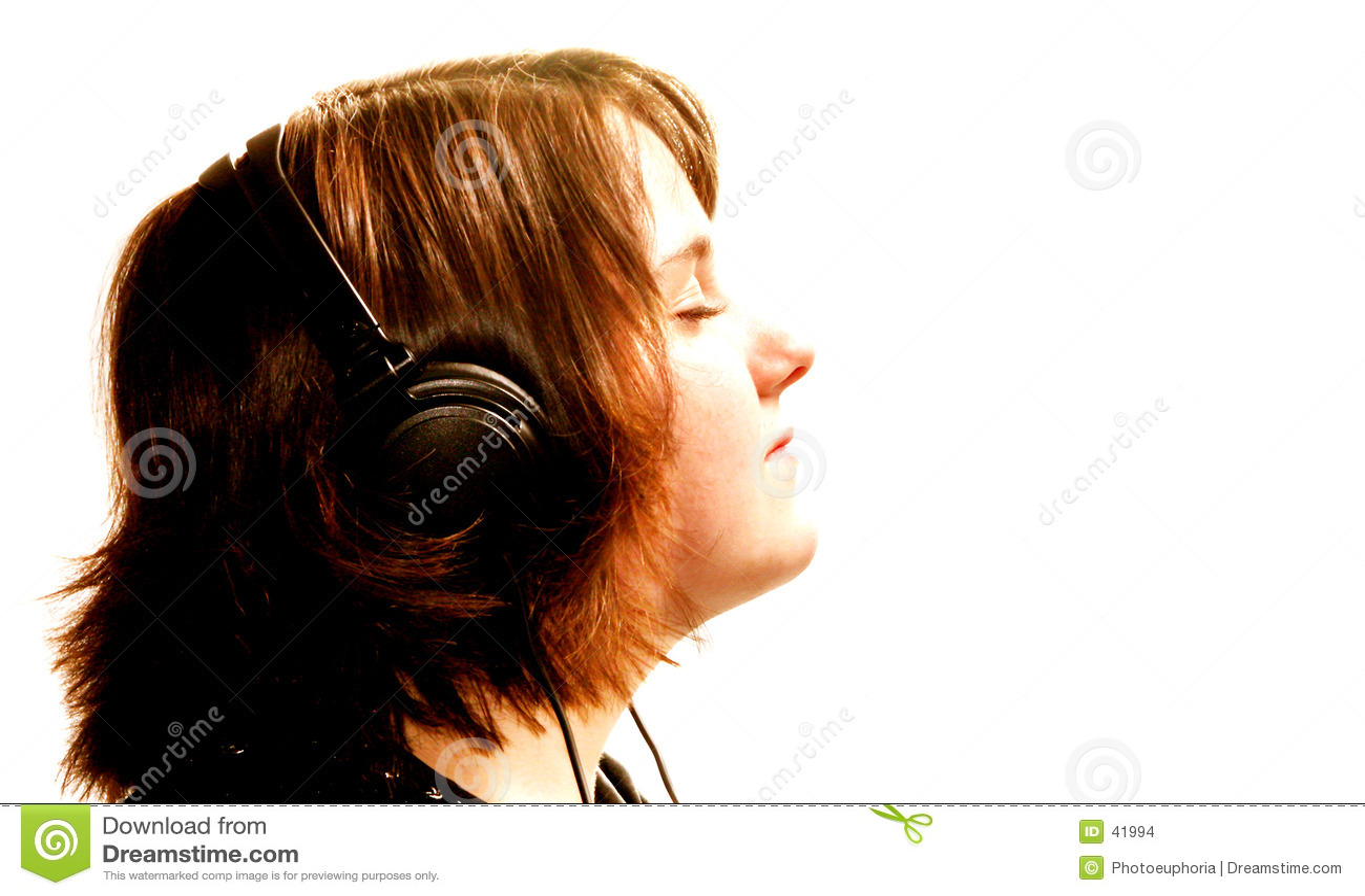 Download Muchacha Adolescente Con Los Auriculares Foto de archivo - Imagen de interno, imaginación: 41994