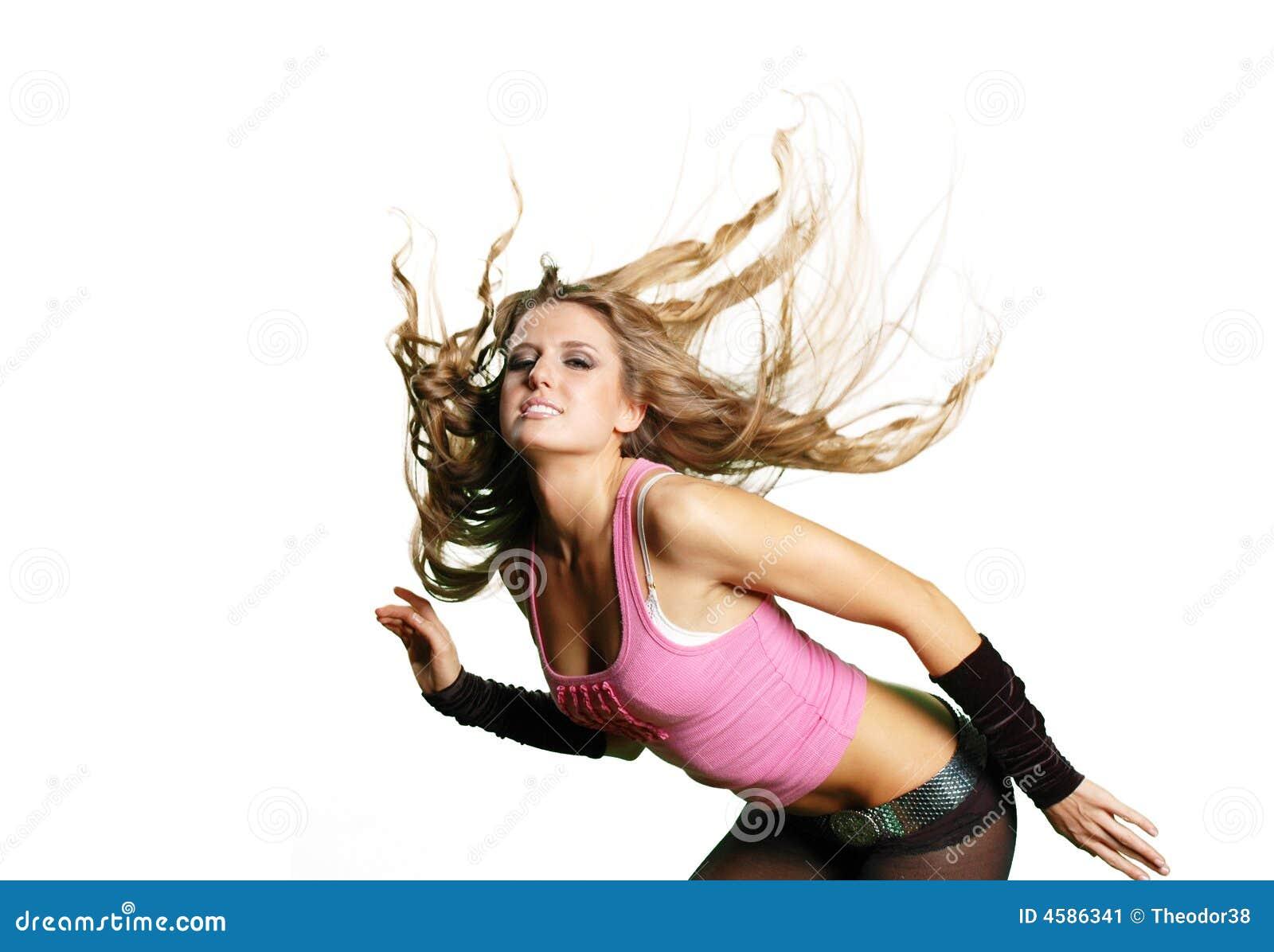 Muchacha atractiva del bailarín