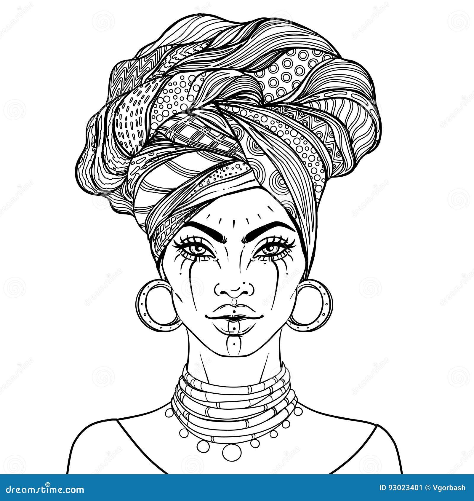 Excepcional Mujeres Negras Para Colorear Motivo - Enmarcado Para ...