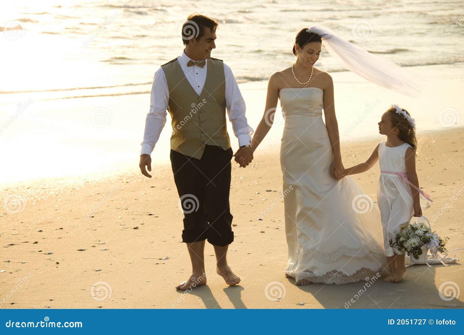 Muchacha de la novia, del novio y de flor